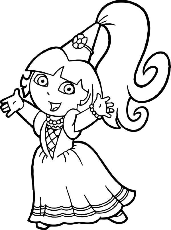 20 Princess Dora Coloring Page Pictures And Ideas On Meta Networks