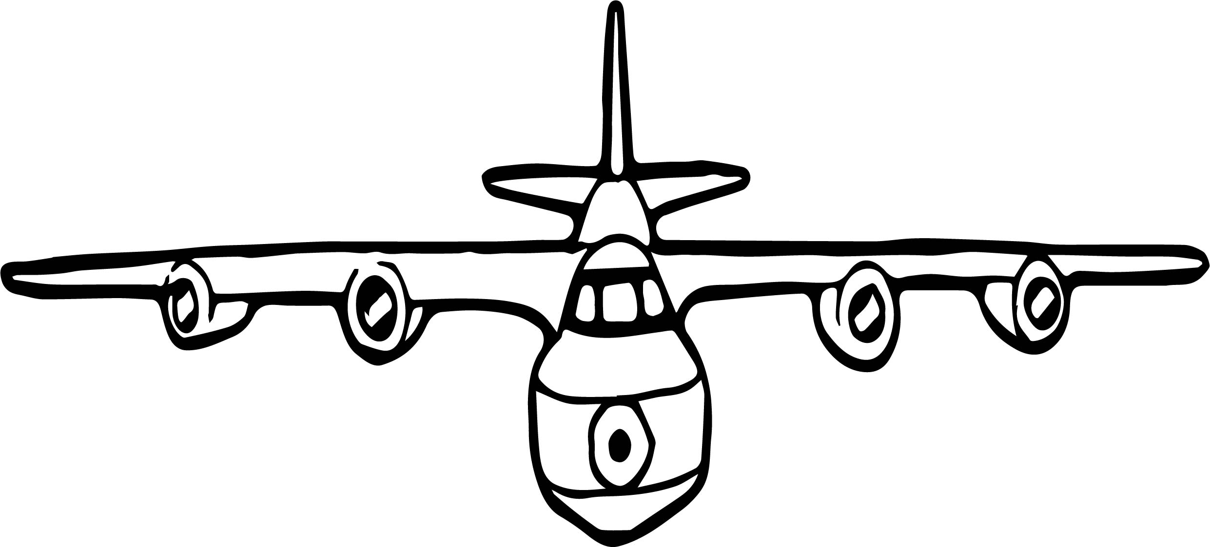 Engine Jet Coloring Page