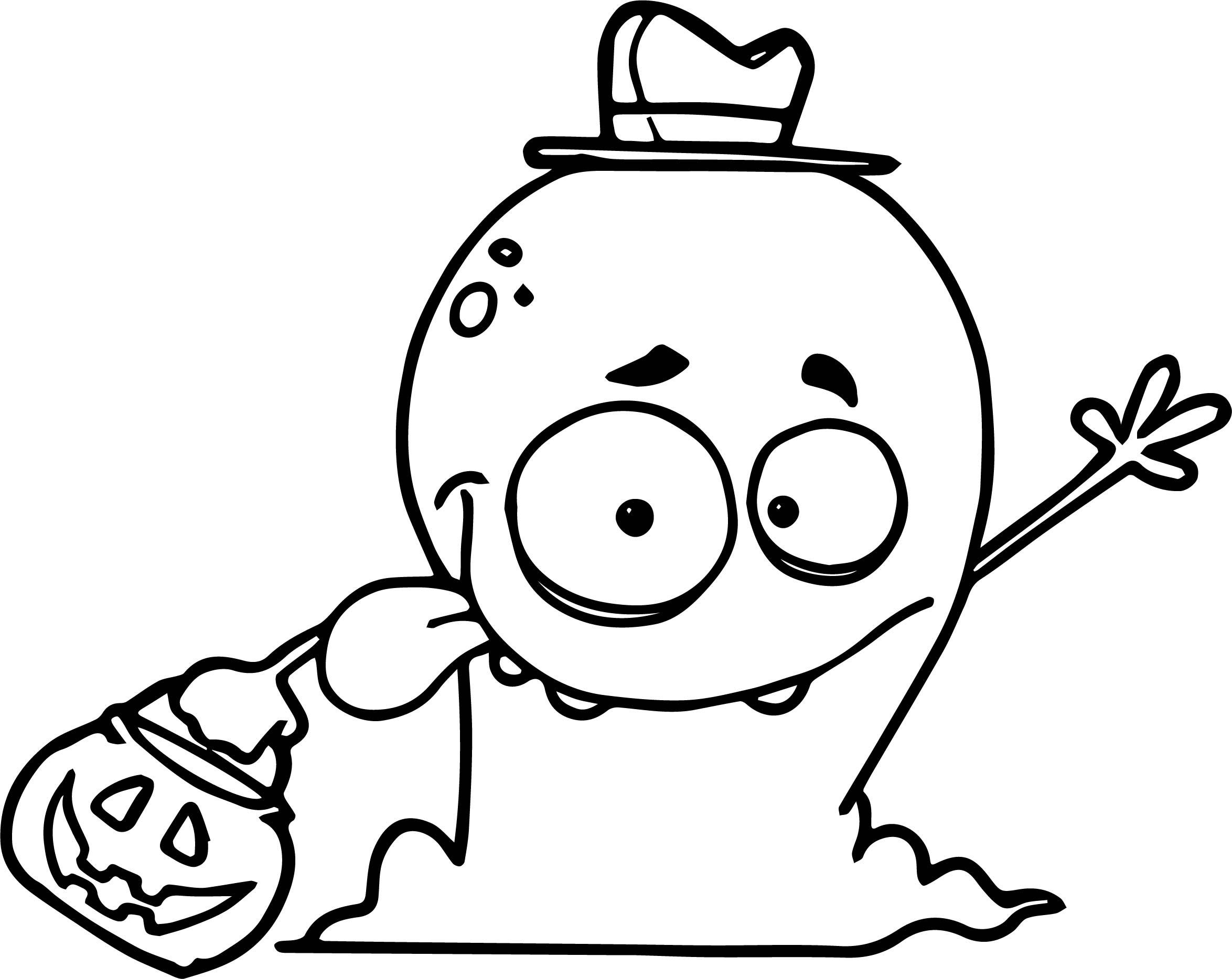 Friendly Alien Monster Trick Or Treating On Halloween