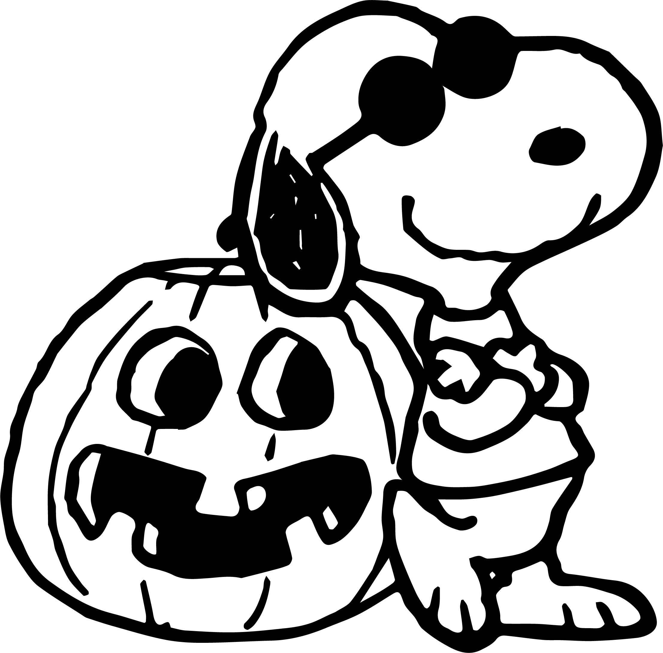 Snoopy Halloween Coloring Pages Sketch Coloring Page