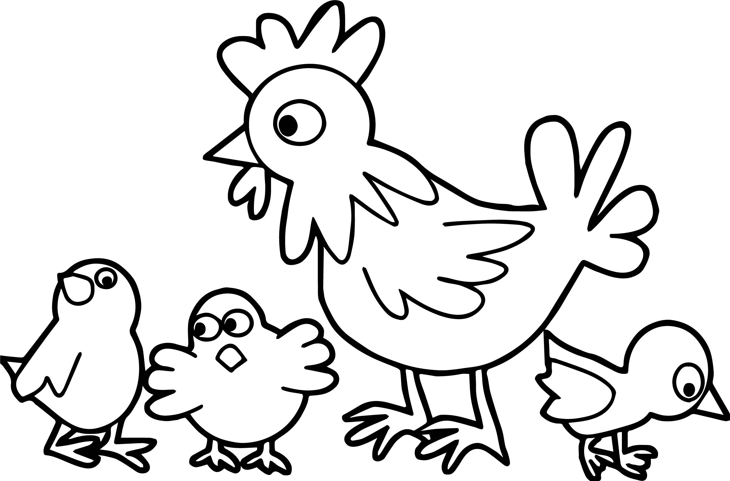 Little Red Hen Makes A Pizza Pages Coloring Pages