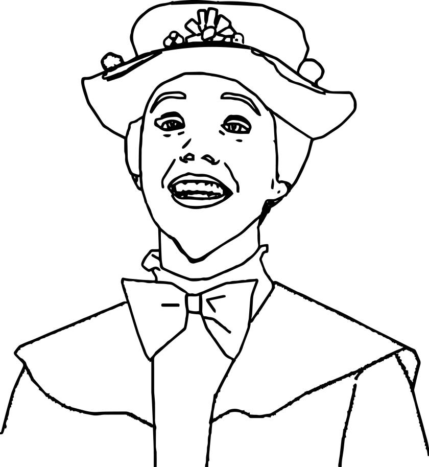 just mary poppins girl coloring page  wecoloringpage
