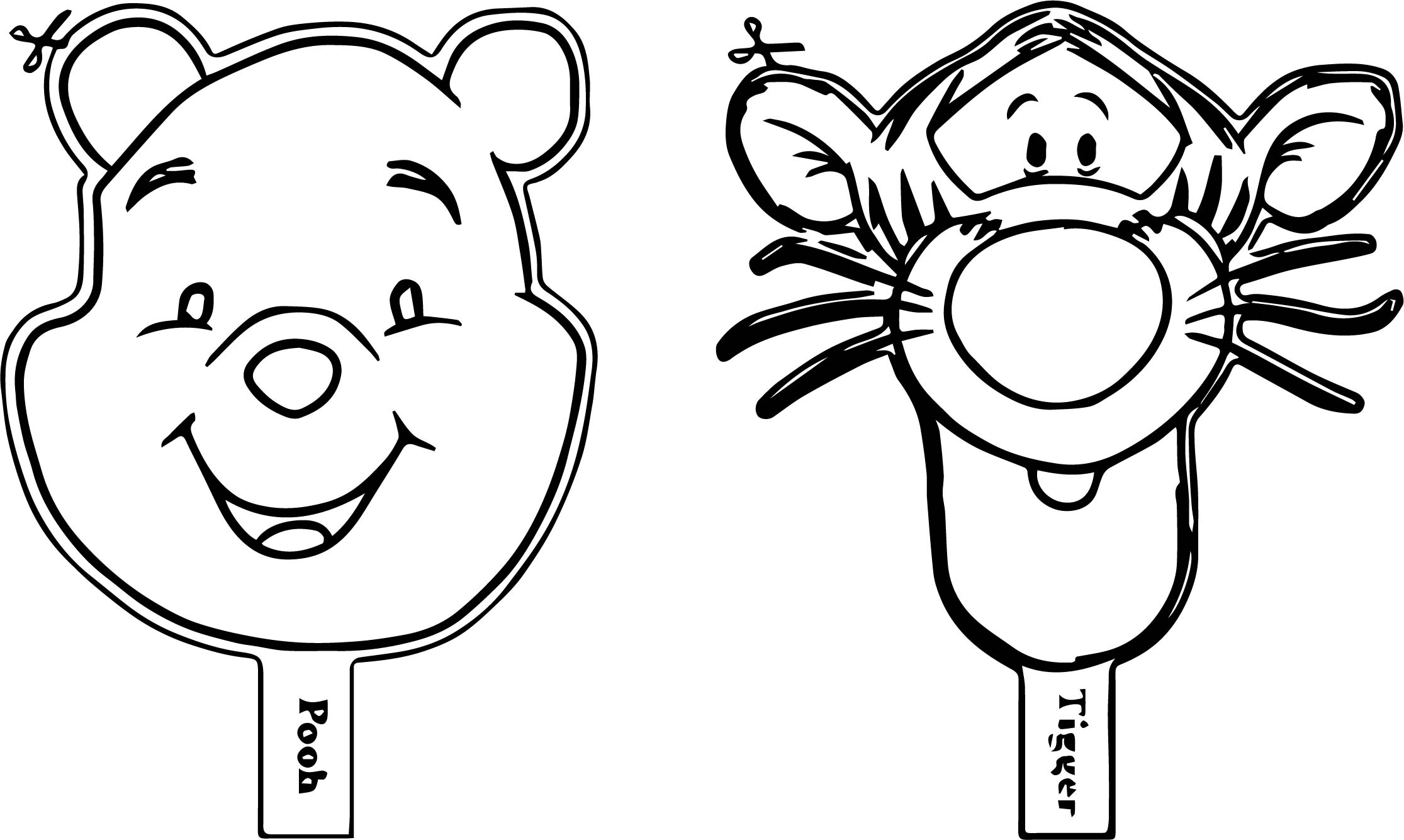Tigger Face Coloring Pages Sketch Coloring Page