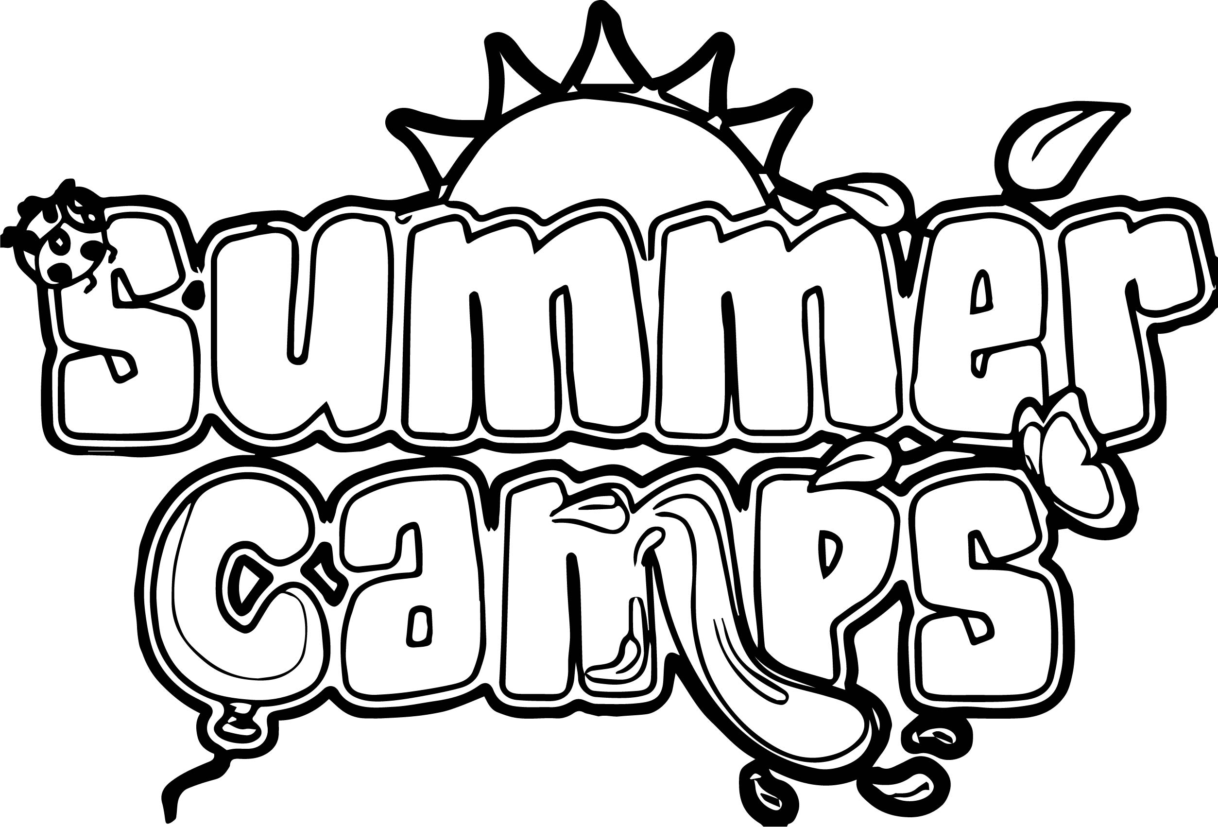 Summer Camp Pages Coloring Pages