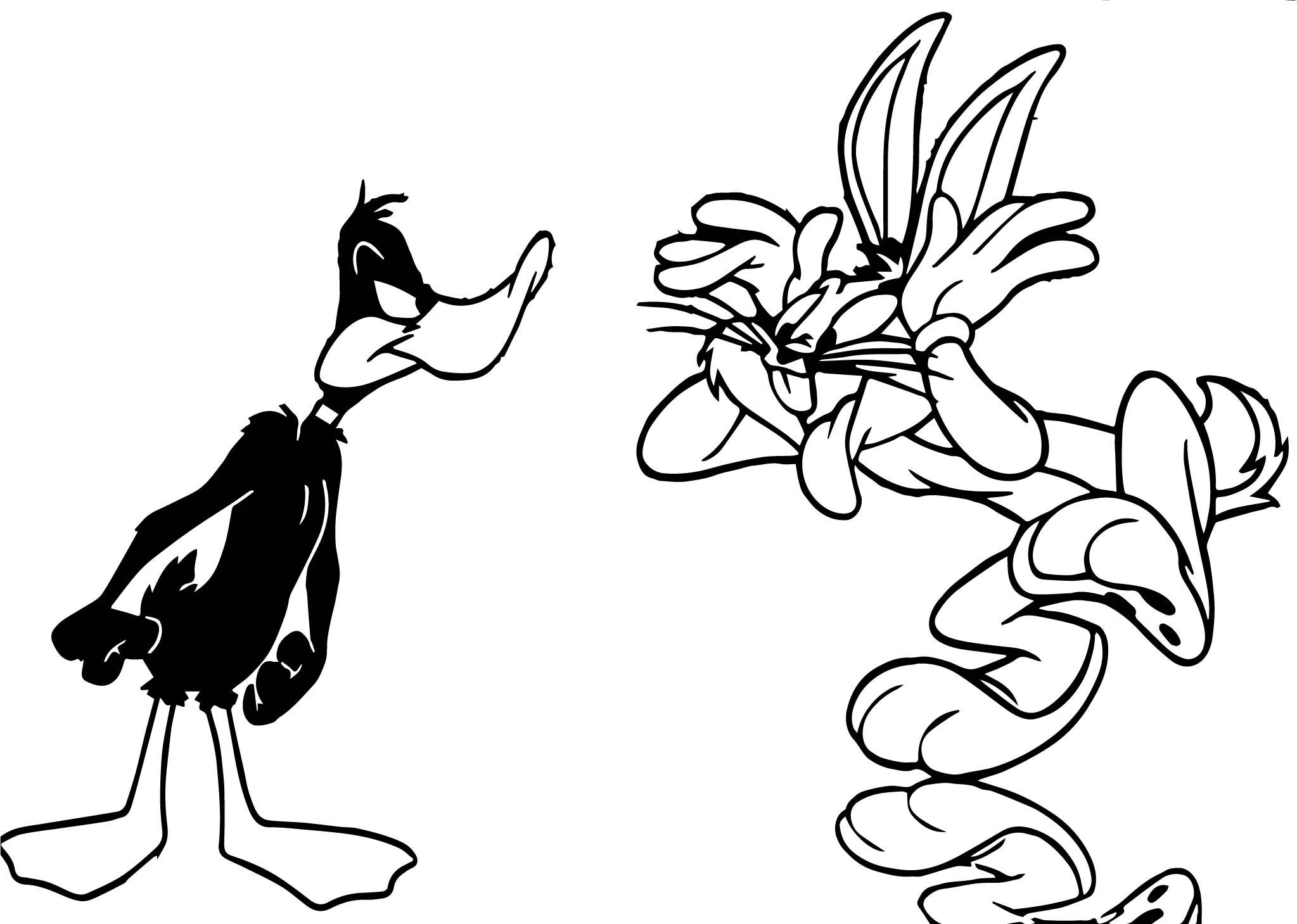 The Looney Duck Bunny Tunes Coloring Page