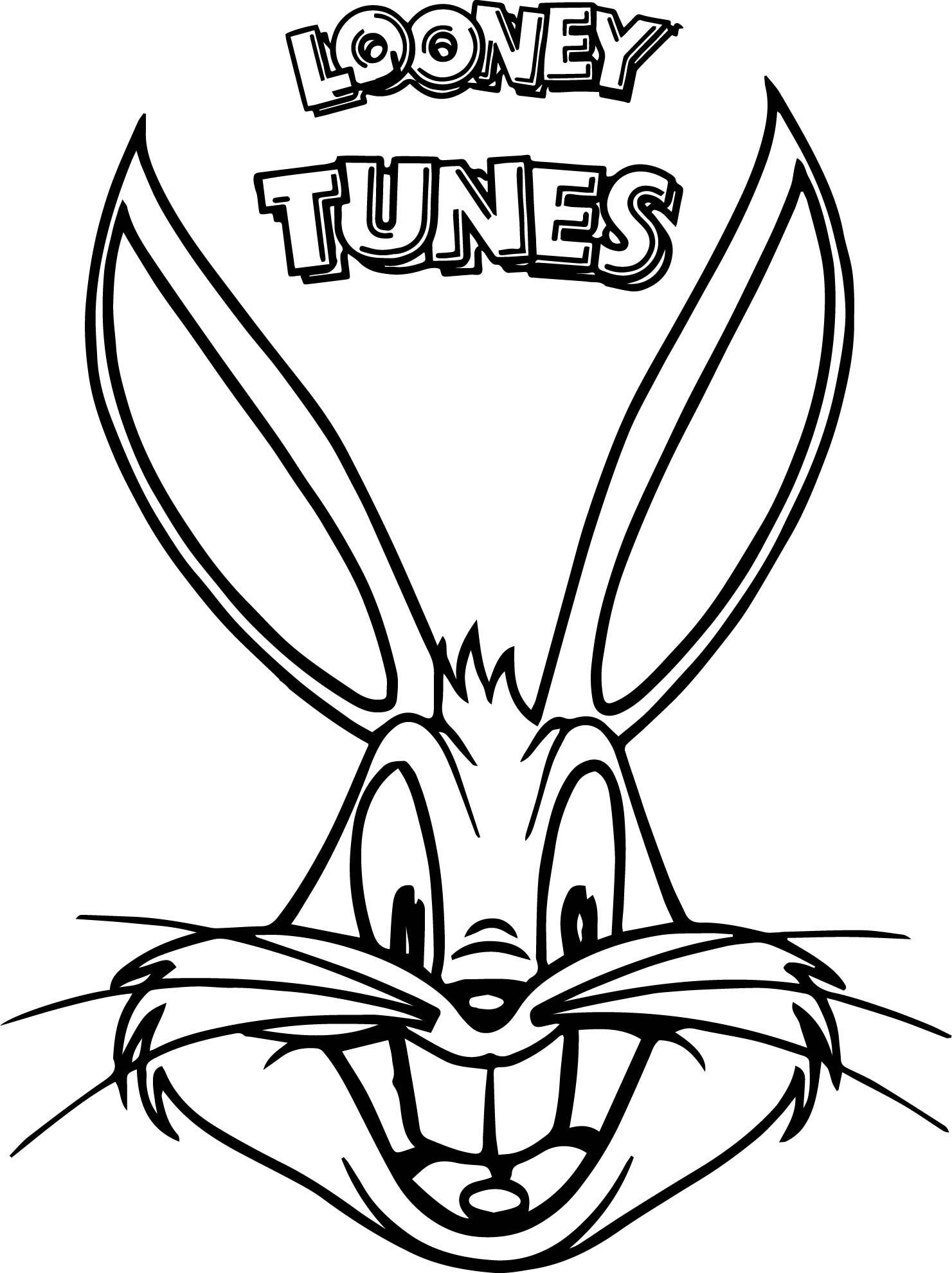 Black And White Looney Tunes Bugs Bunny