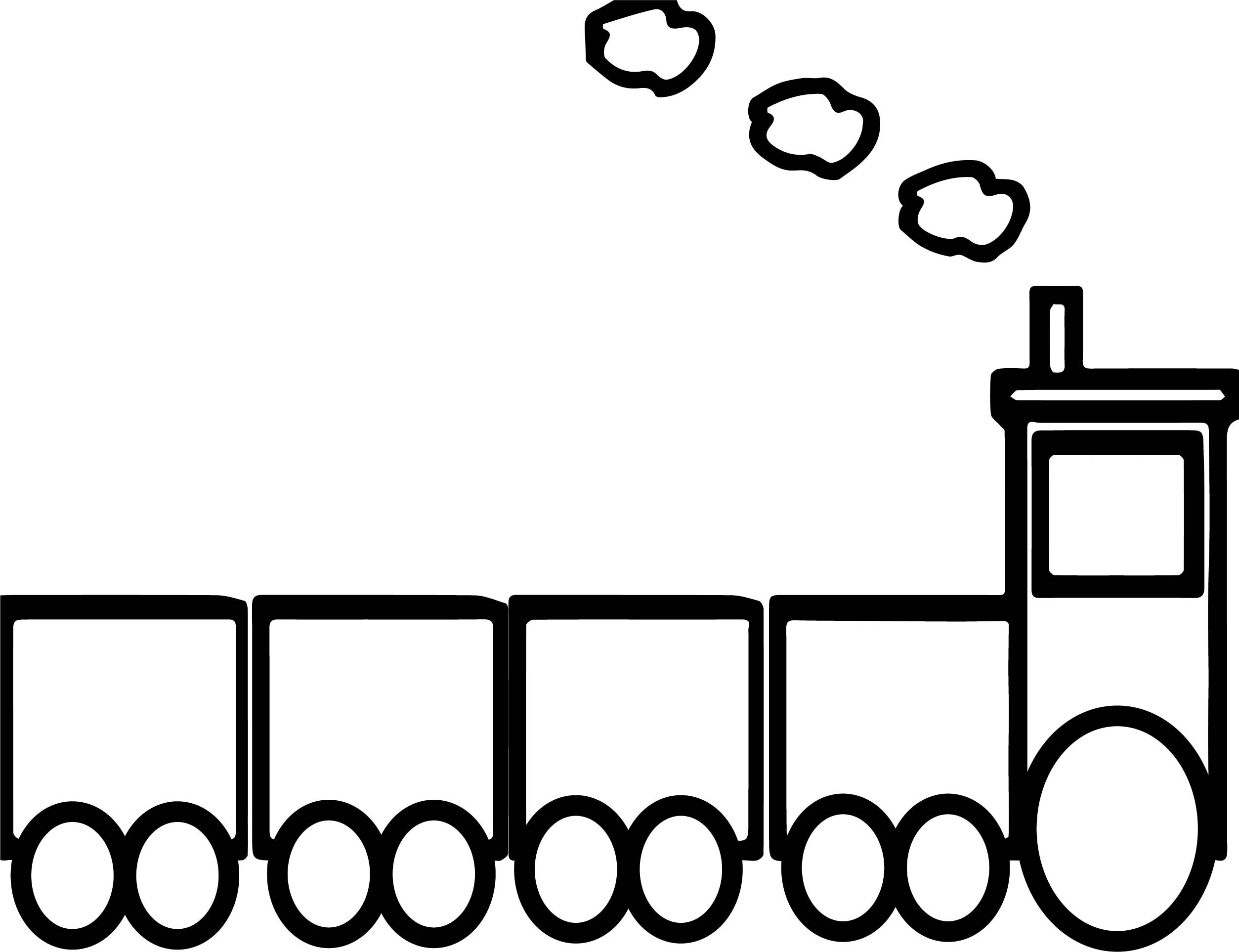 Toy Box Train Coloring Page