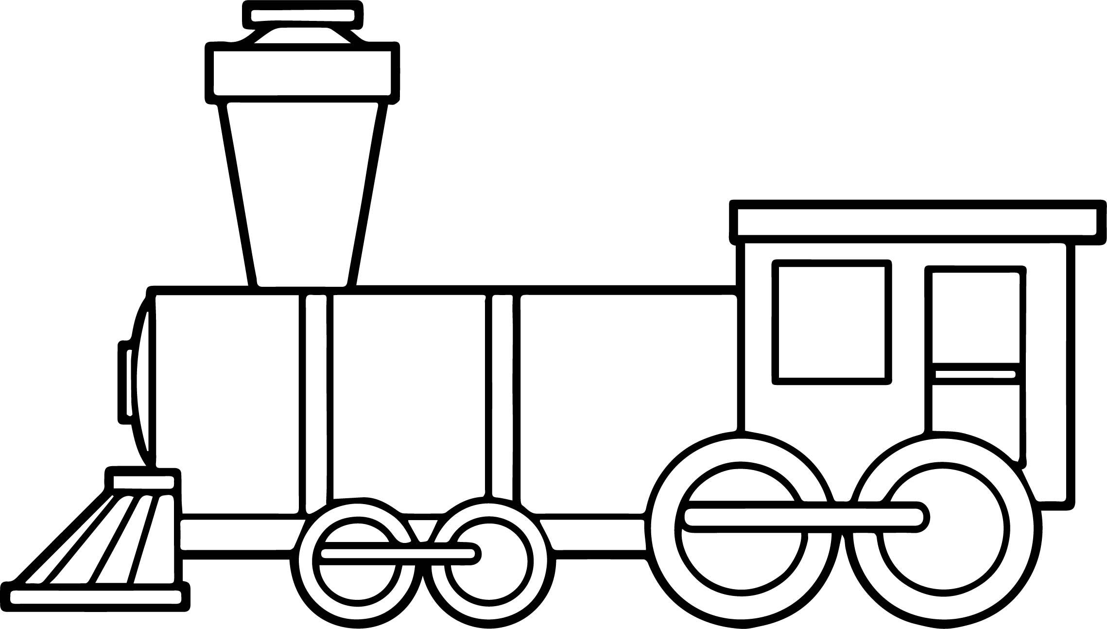 Train Box Coloring Page