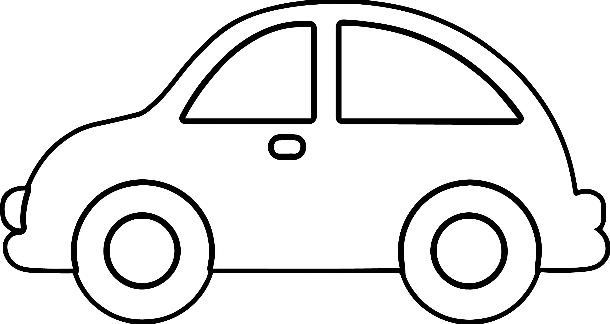 Car Outline Coloring Pages