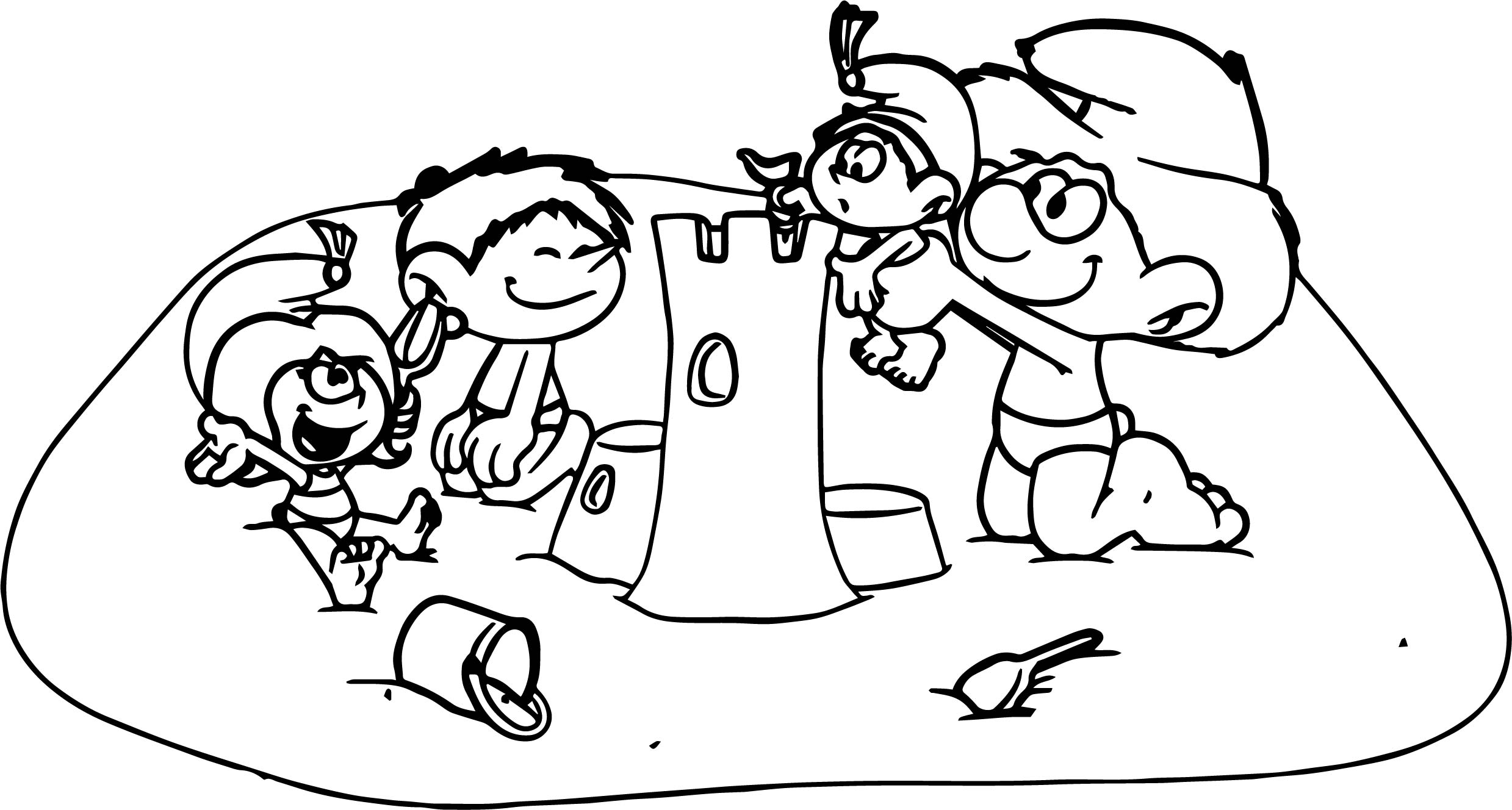 Coloring People Together Coloring Pages