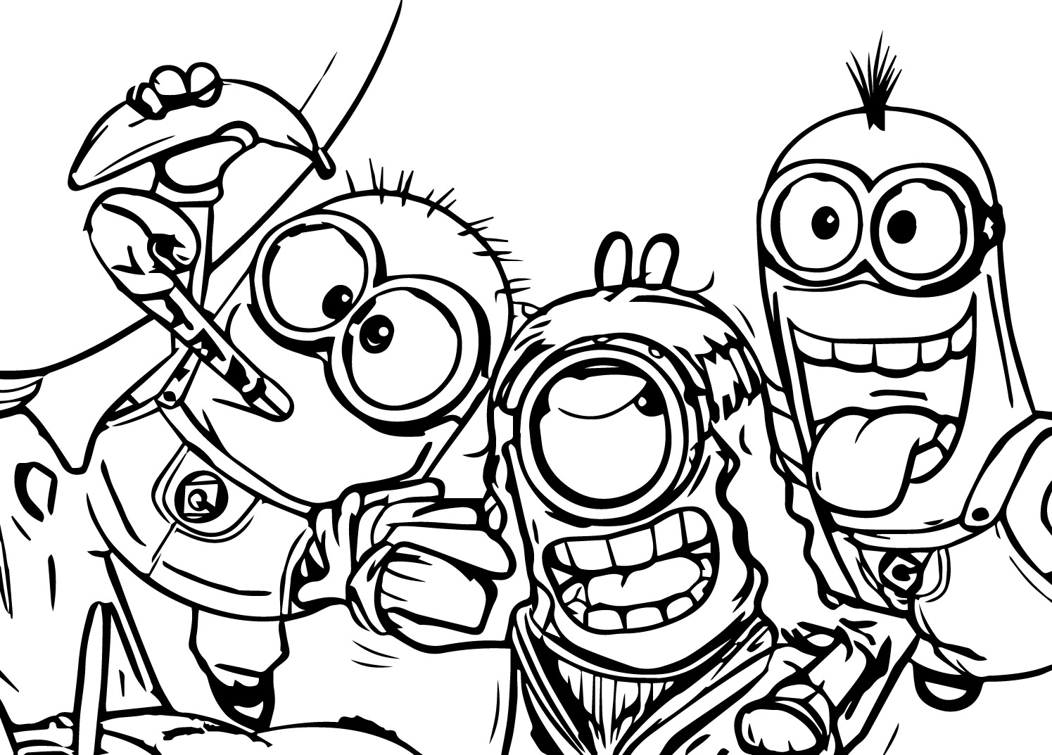 Minion Party Coloring Page