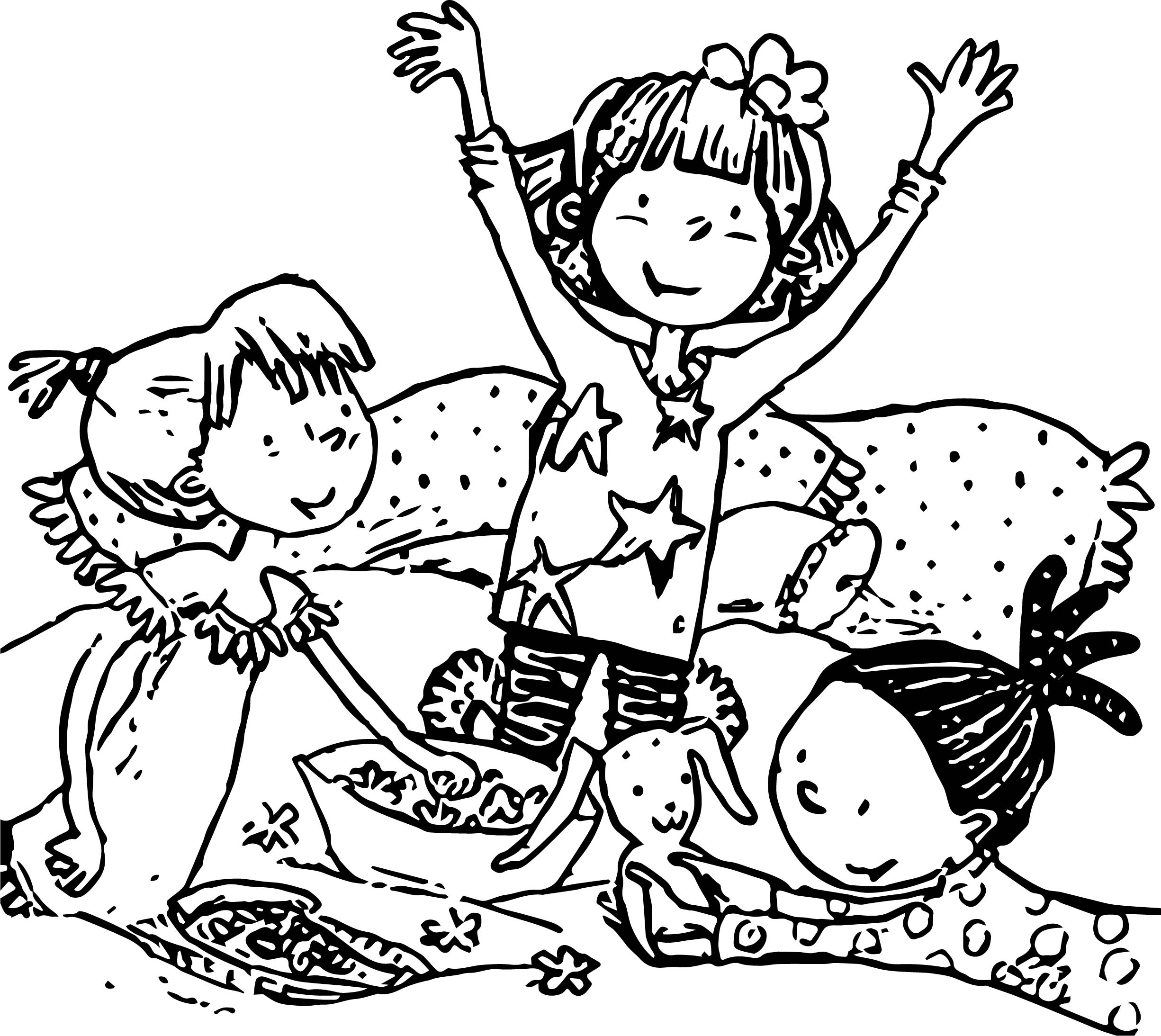 Amelia Bedelia With Friends Coloring Page