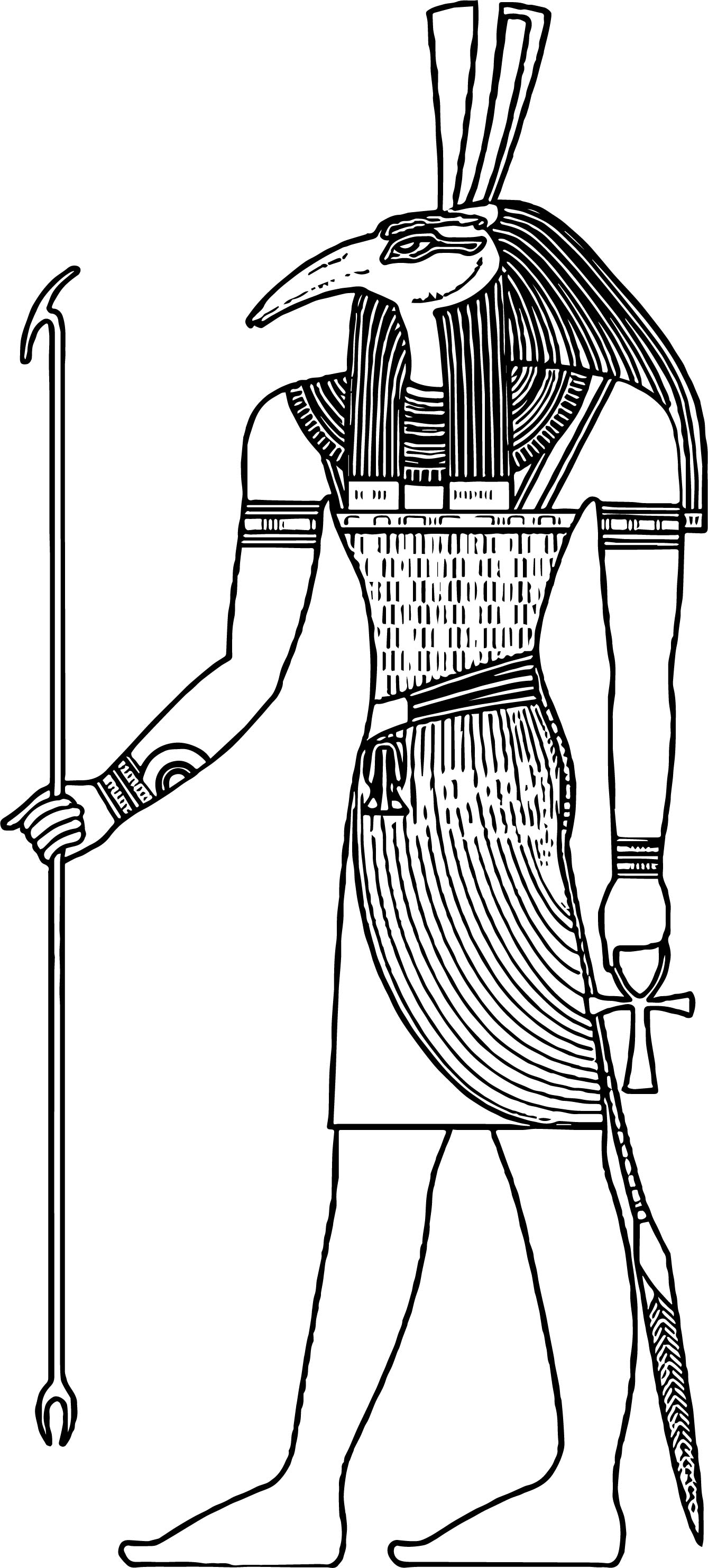 Ancient Egypt Symbol Man Coloring Page Wecoloringpage