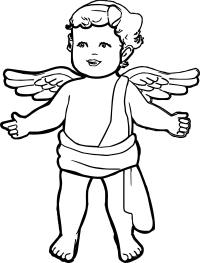 Angel Boy Coloring Page | Wecoloringpage.com