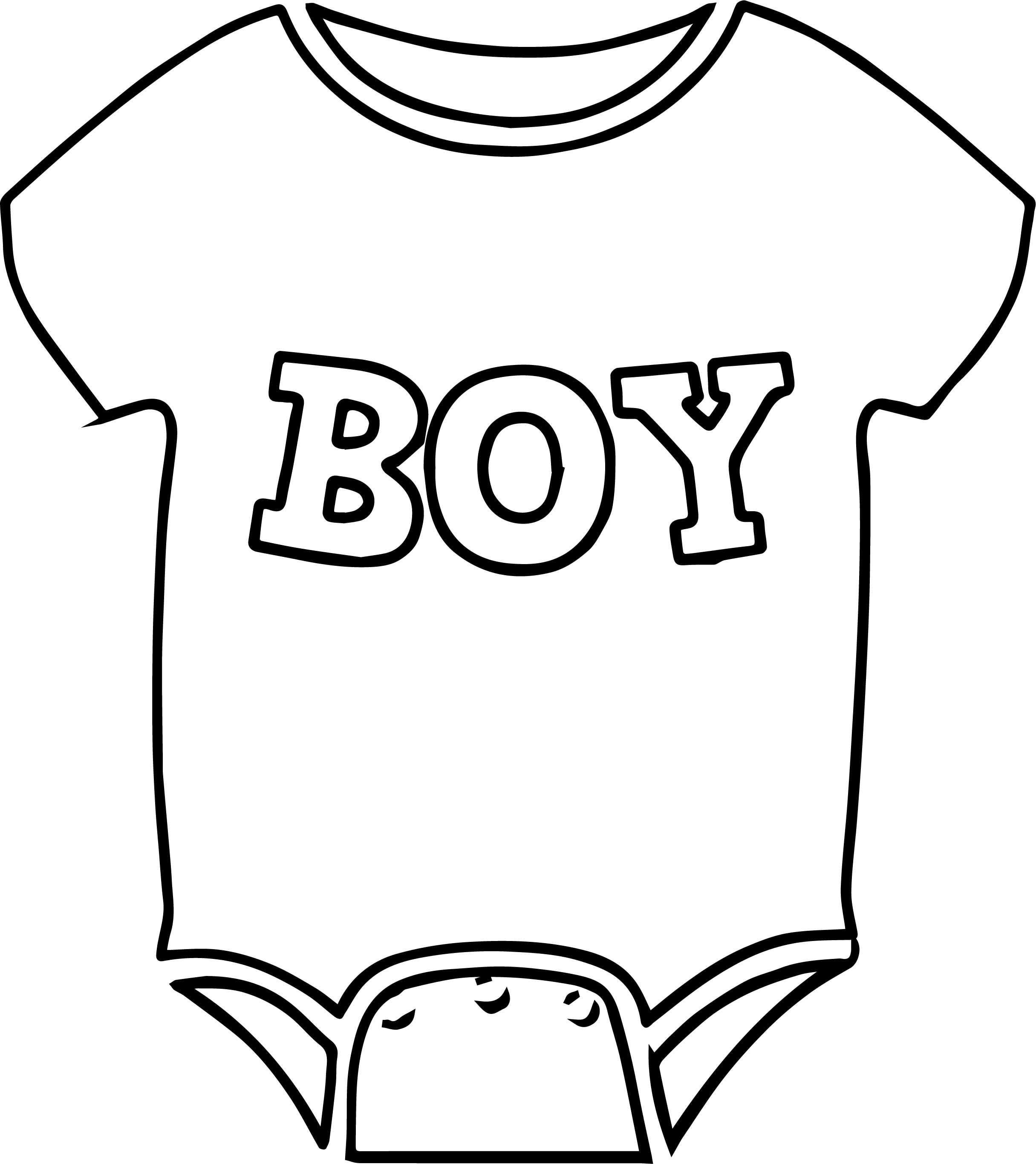 Baby Boy Shirt Coloring Page