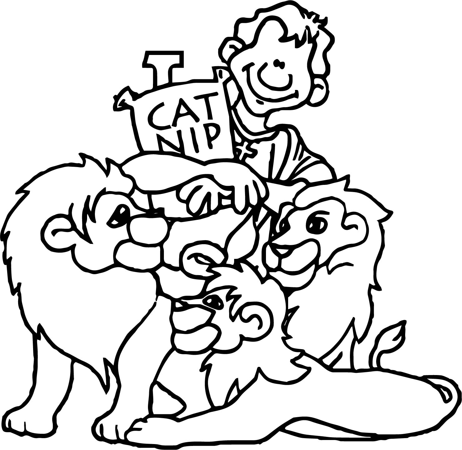 Banner Rome Christianity Cat Nip Coloring Page