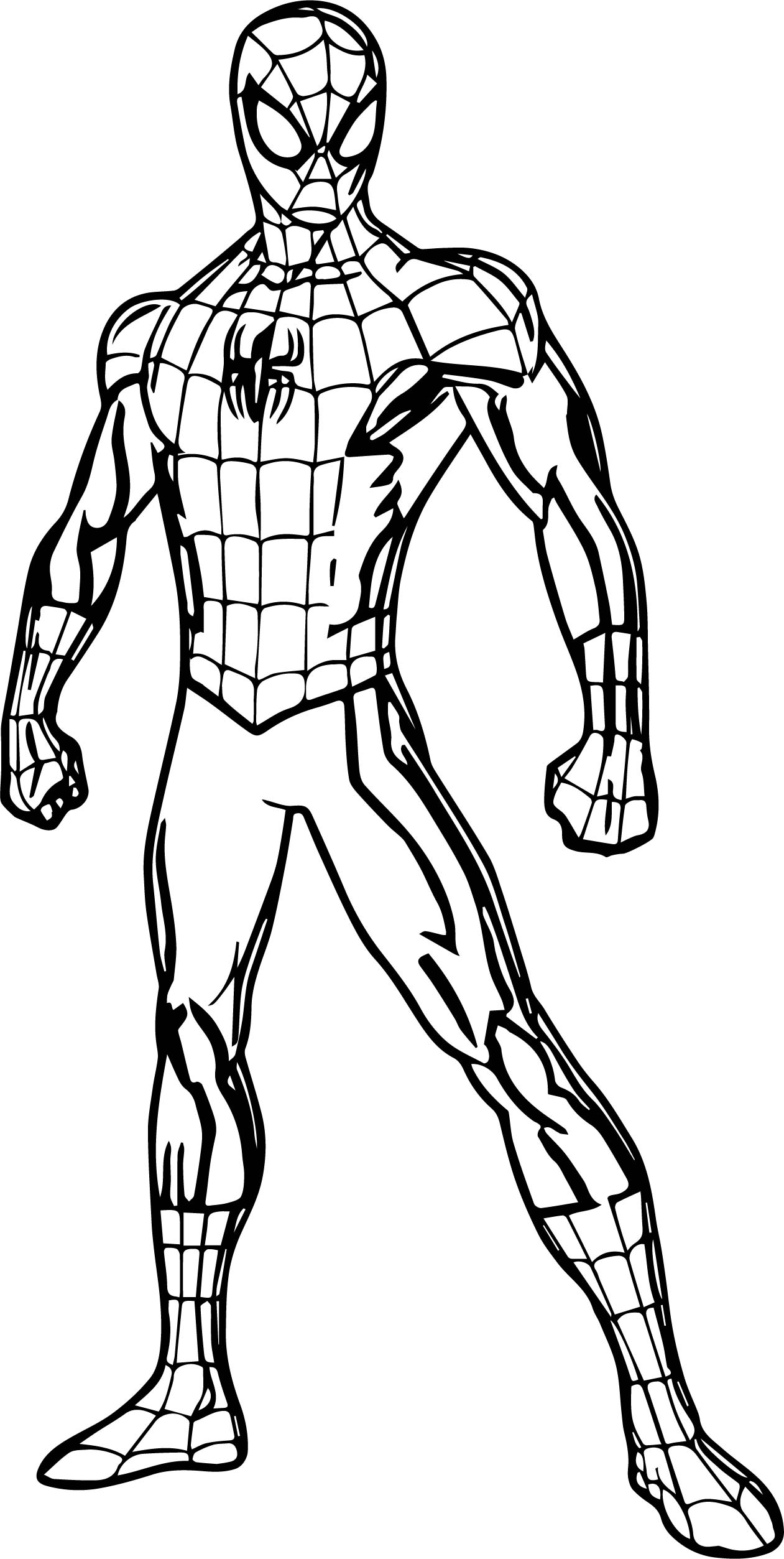 Spiderman Coloring Page Standing