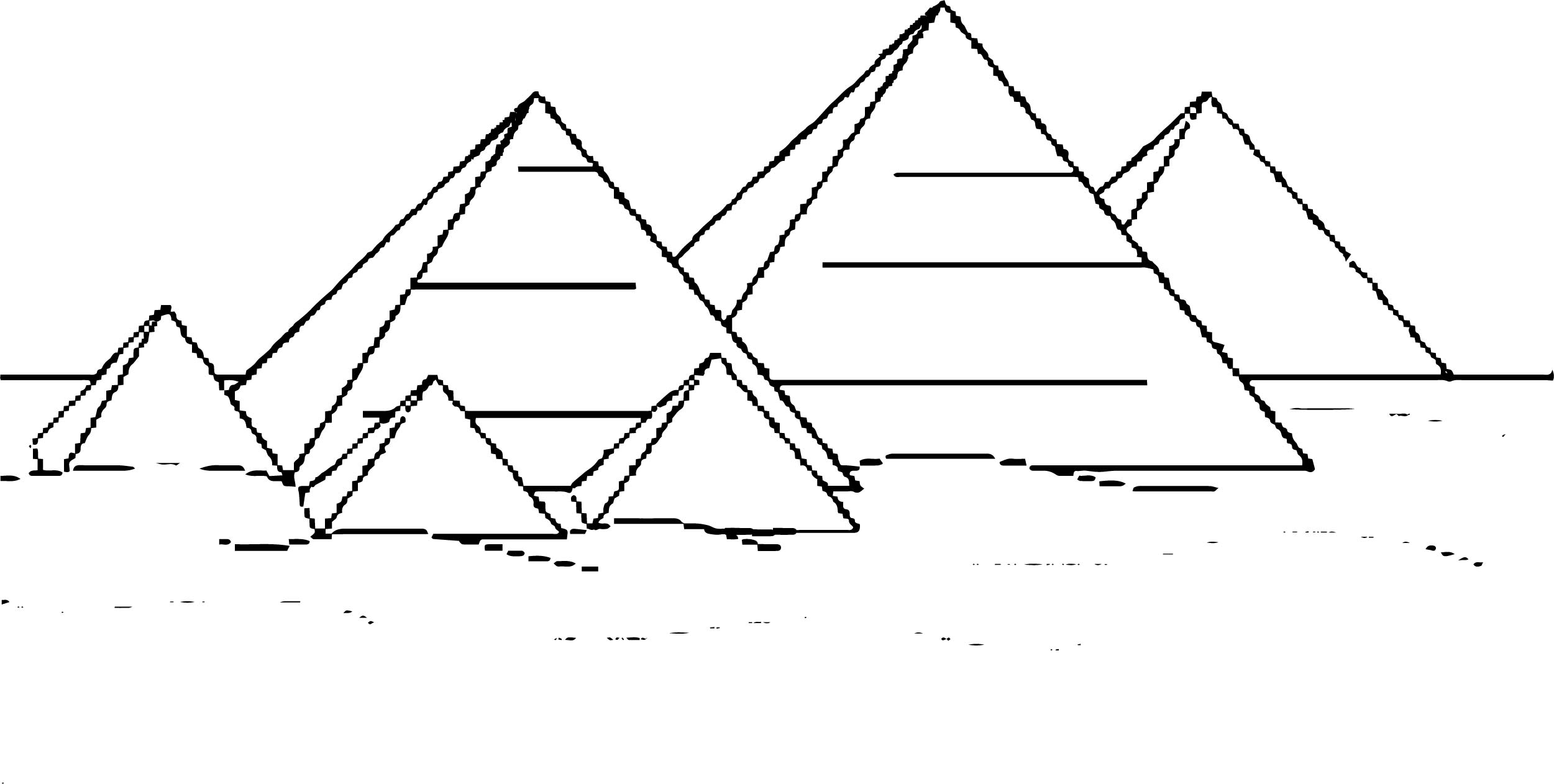 Egyptian Pyramid Coloring Pages