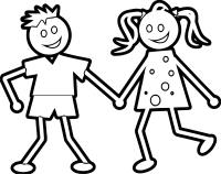 Any Kids Boy And Girl Coloring Page | Wecoloringpage.com