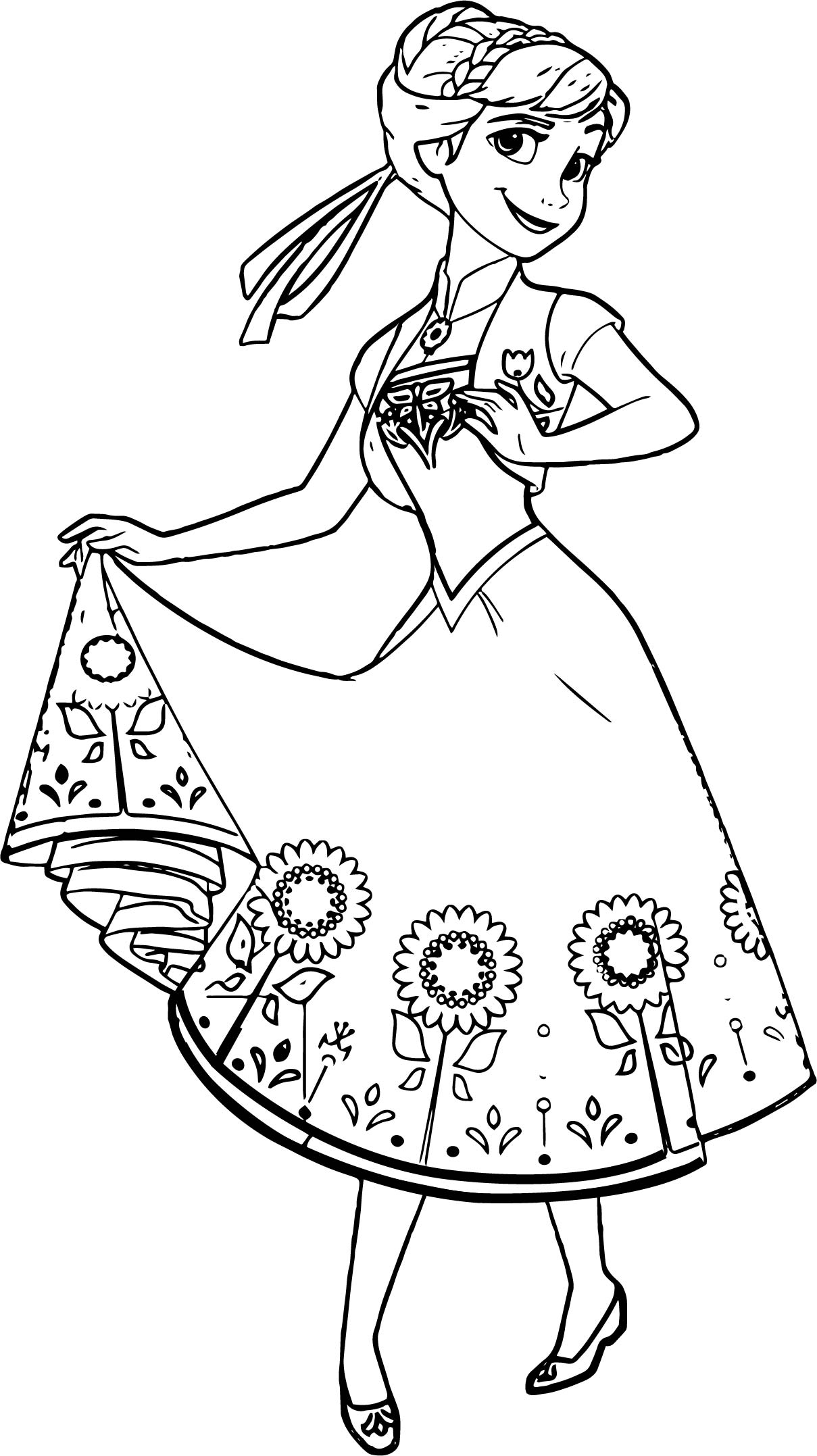 5 Senses Coloring Page