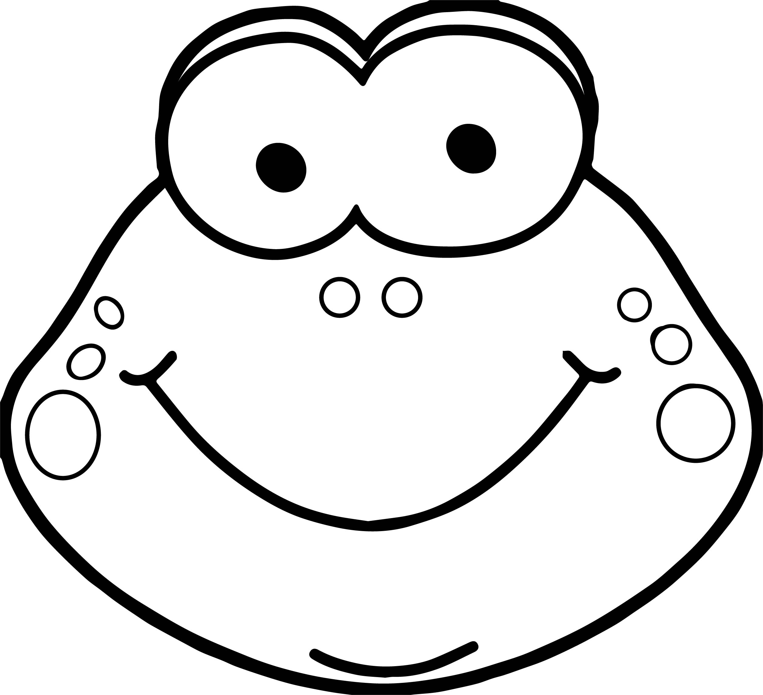 Frog Face Coloring Page Coloring Coloring Pages