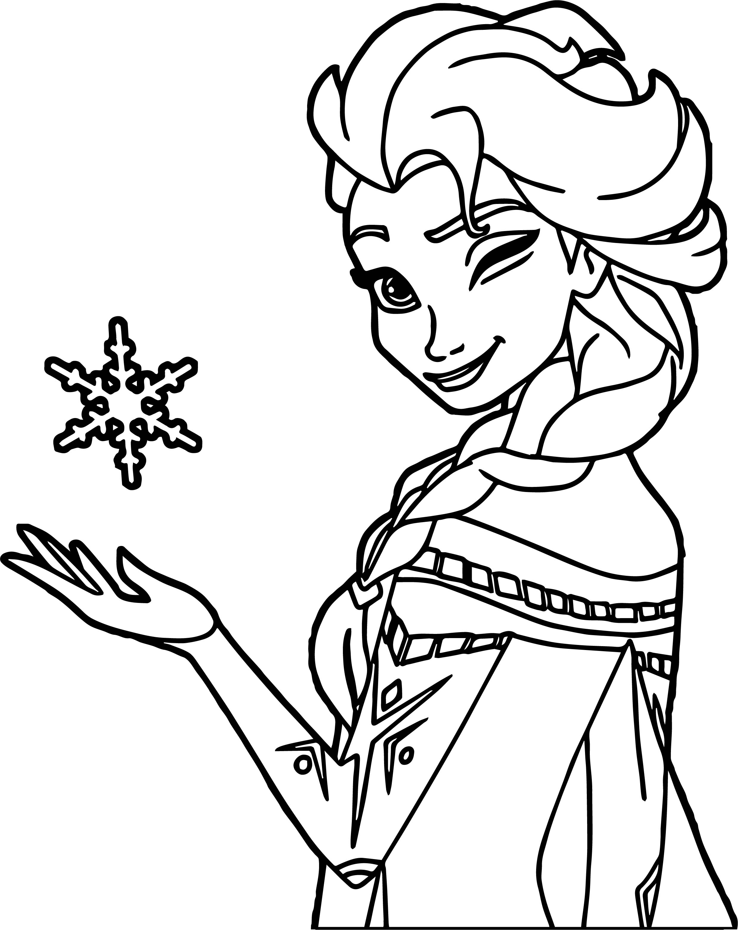 elsa coloring pages download elsa winking coloring page