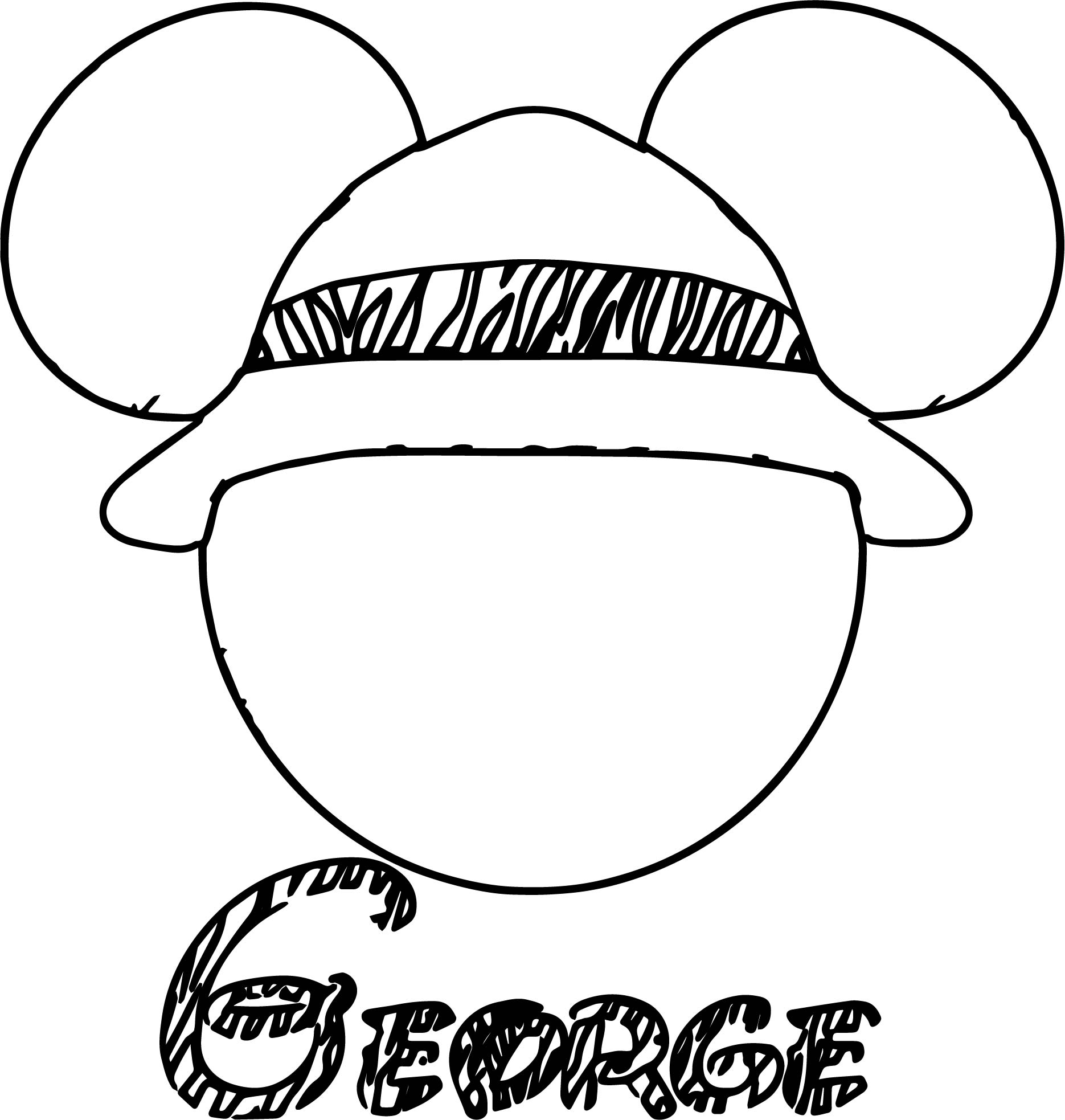 Mickey Mouse Face Pages Coloring Pages