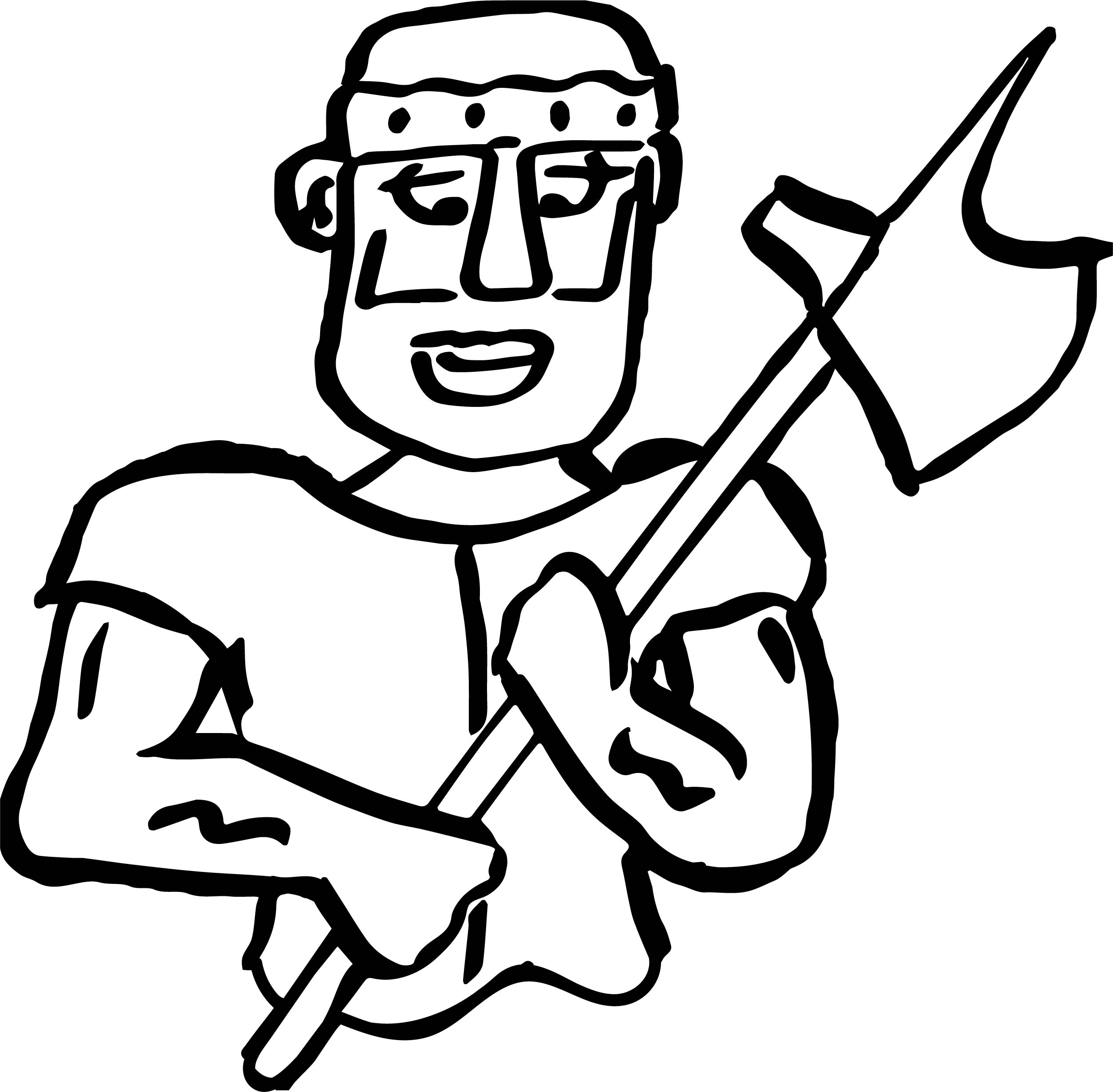 roman soldier diagram 3 way switch wiring with dimmer axe coloring page wecoloringpage