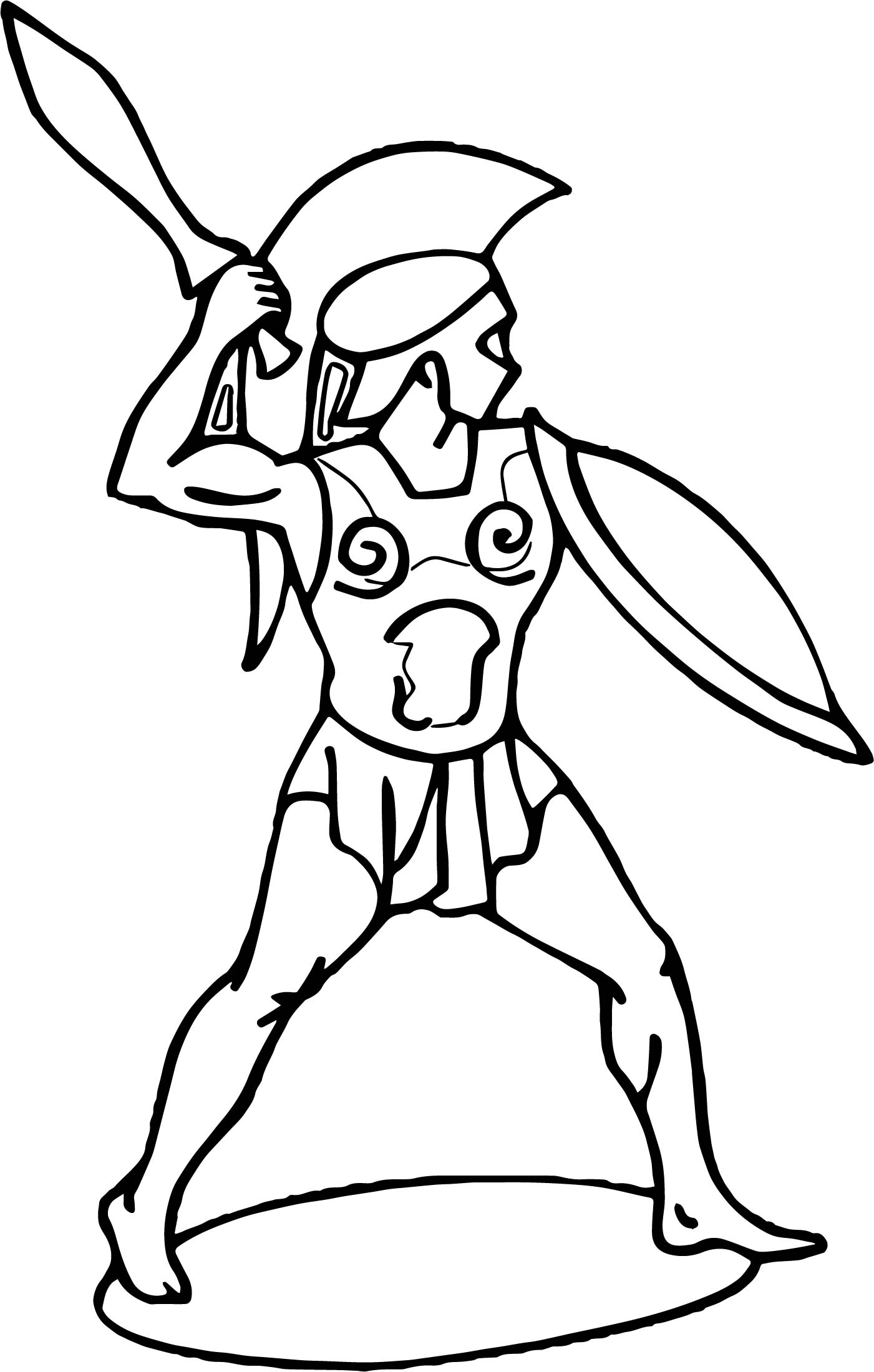 roman soldier diagram cell membrane blank warrior coloring page wecoloringpage