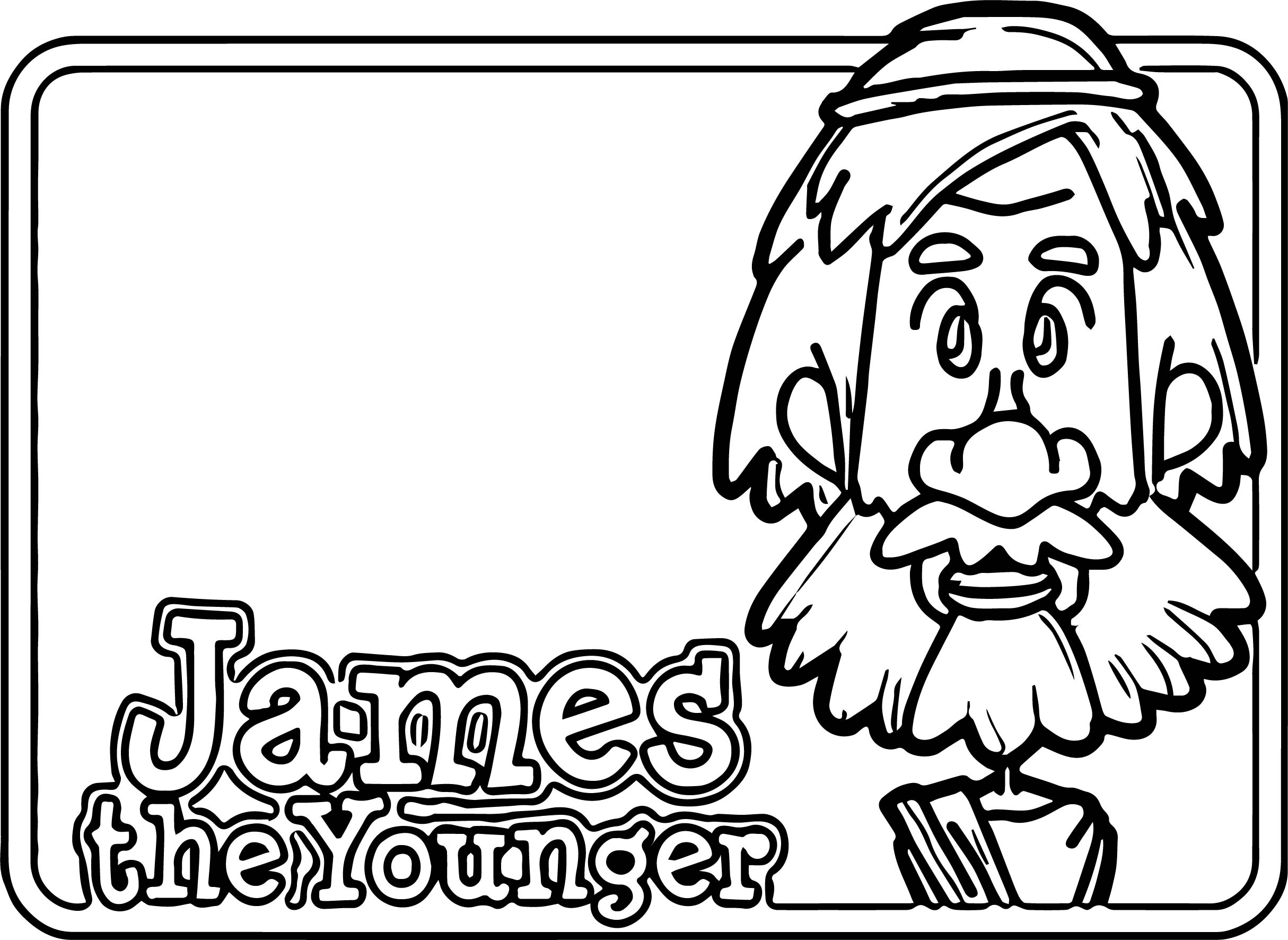 Apostle Paul James The Younger Coloring Page