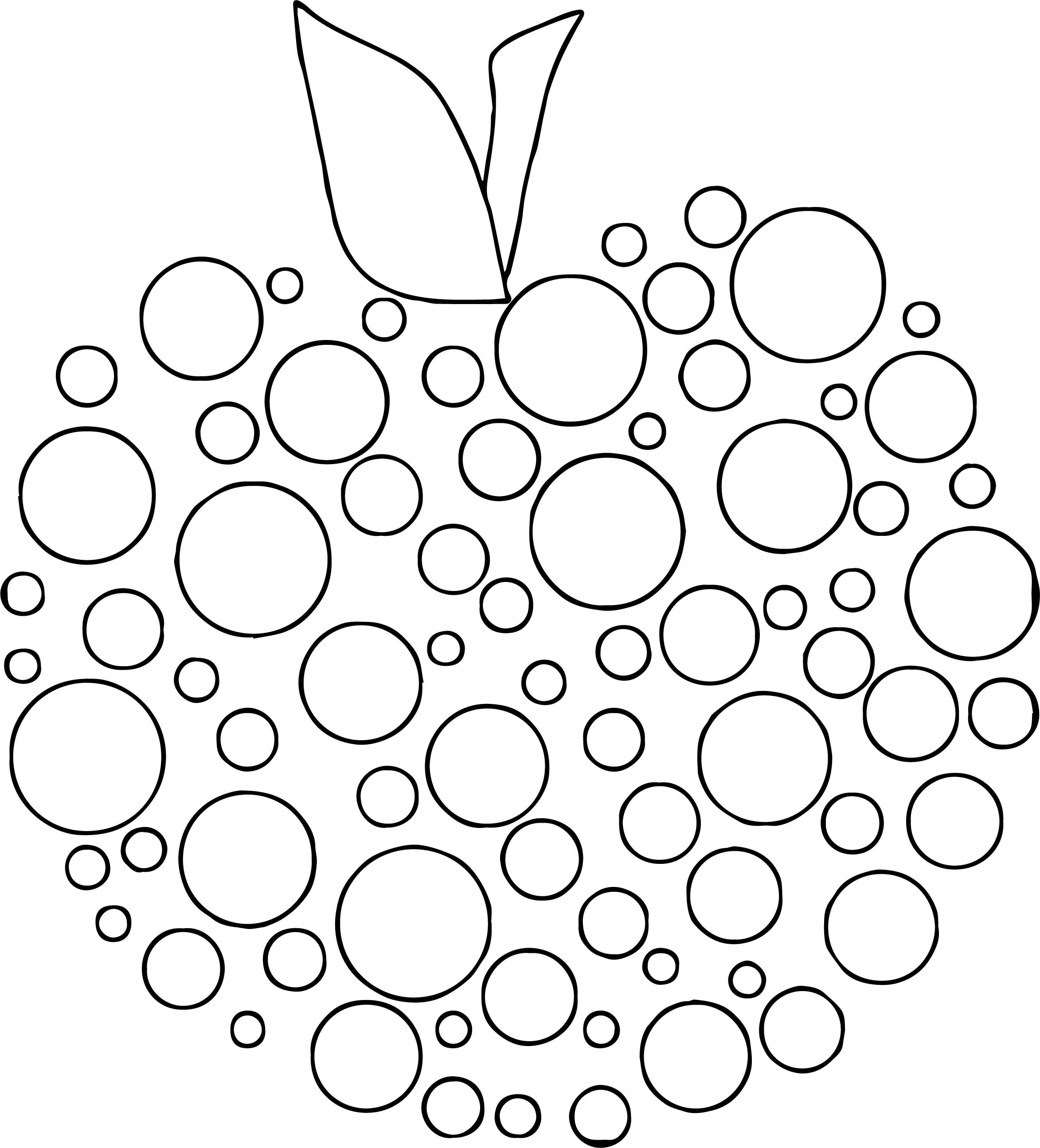 Apple Polka Dot Coloring Page