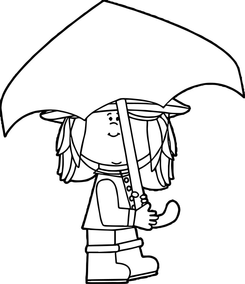 april shower cute girl coloring page  wecoloringpage