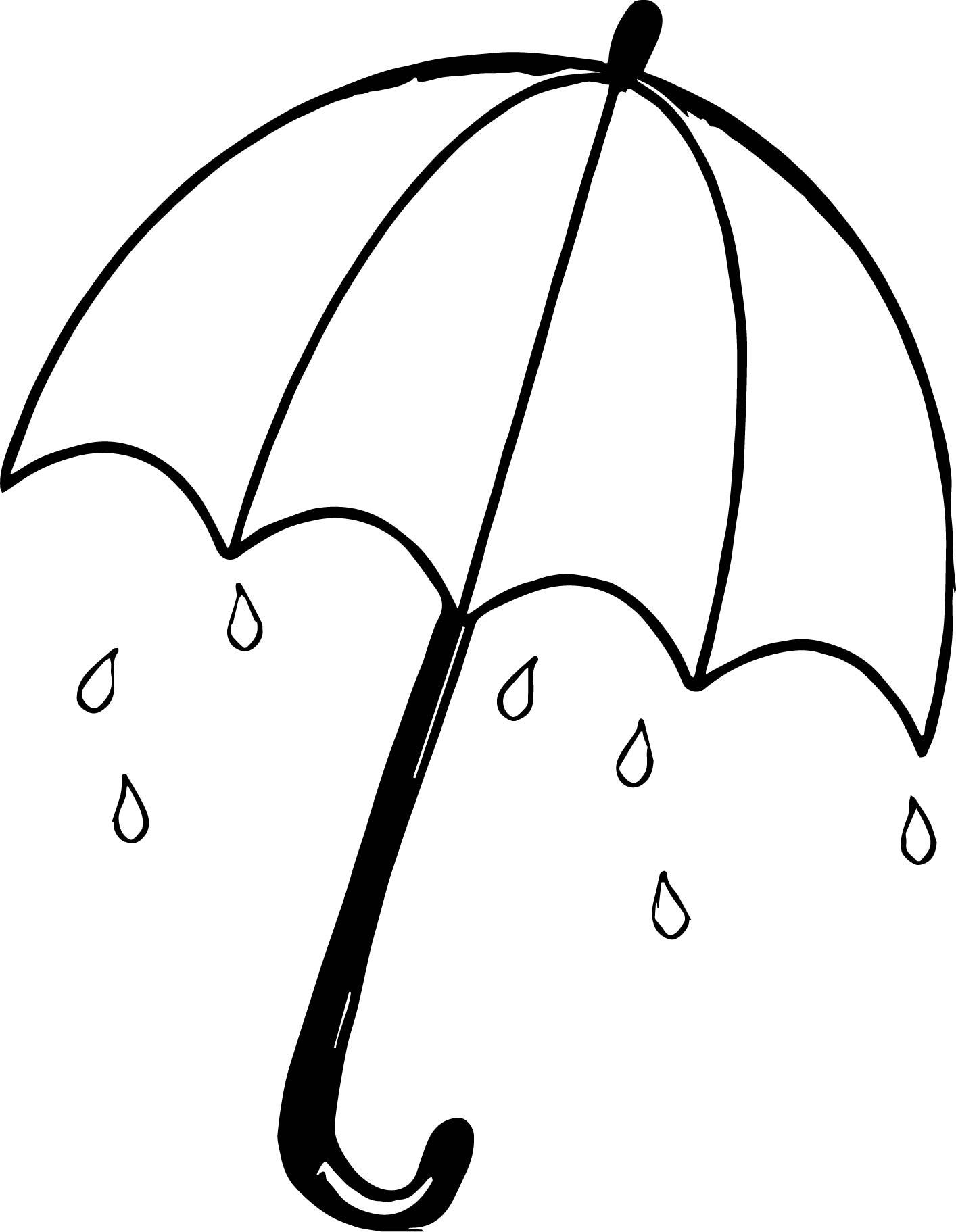 April Shower Umbrella Coloring Page Wecoloringpage