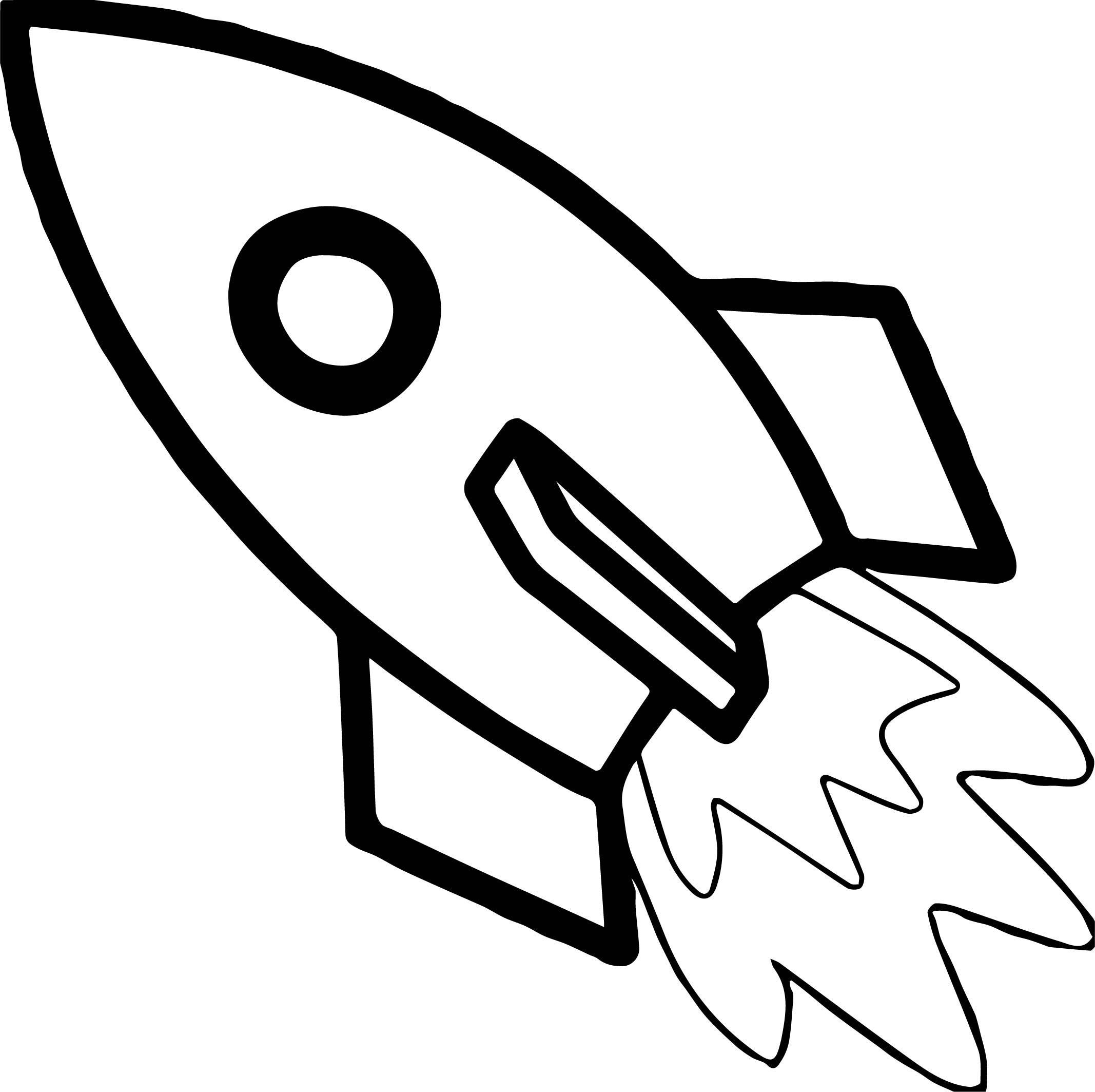 Astronaut Fast Rocket Coloring Page
