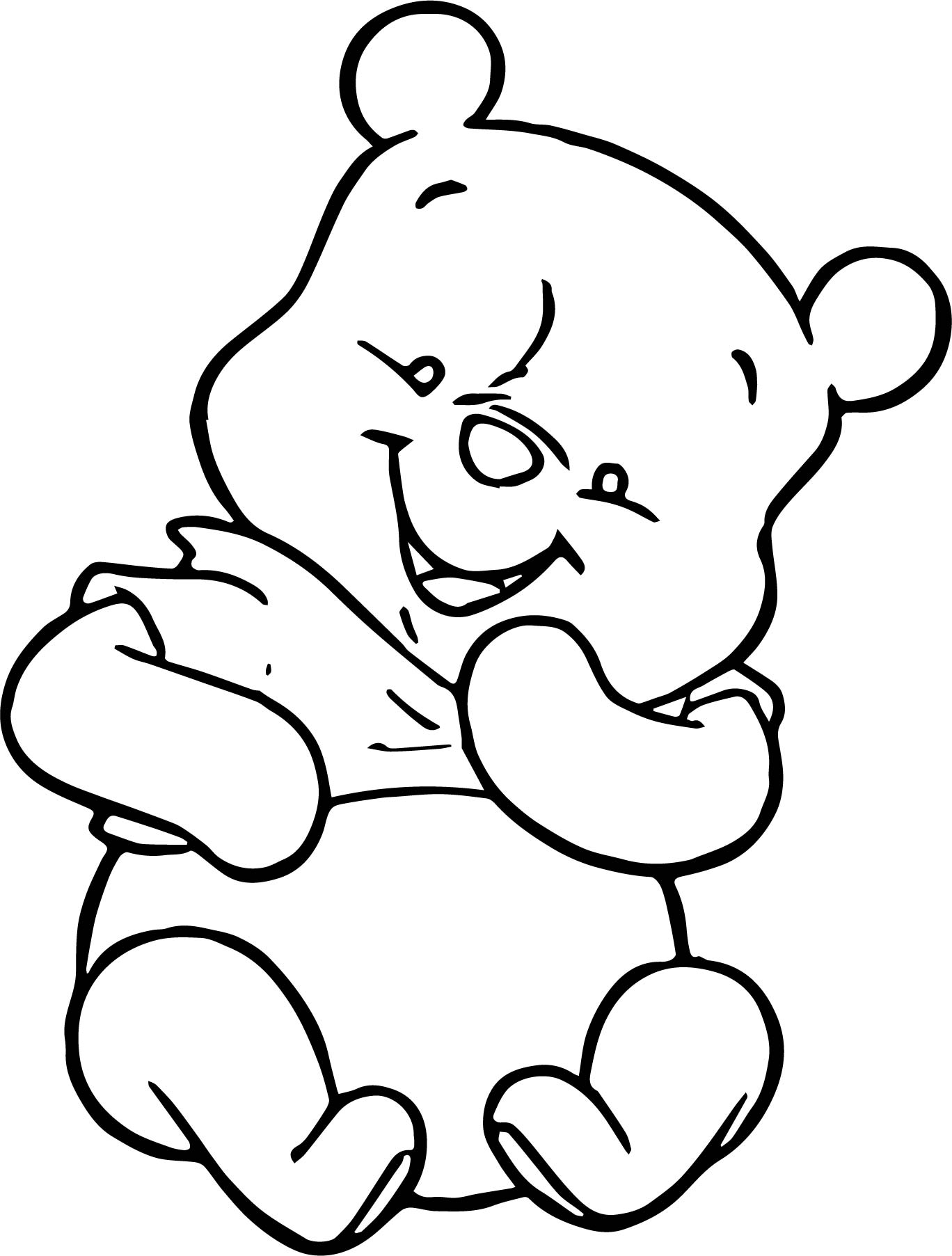 Baby Winnie The Pooh Mouse Coloring Page
