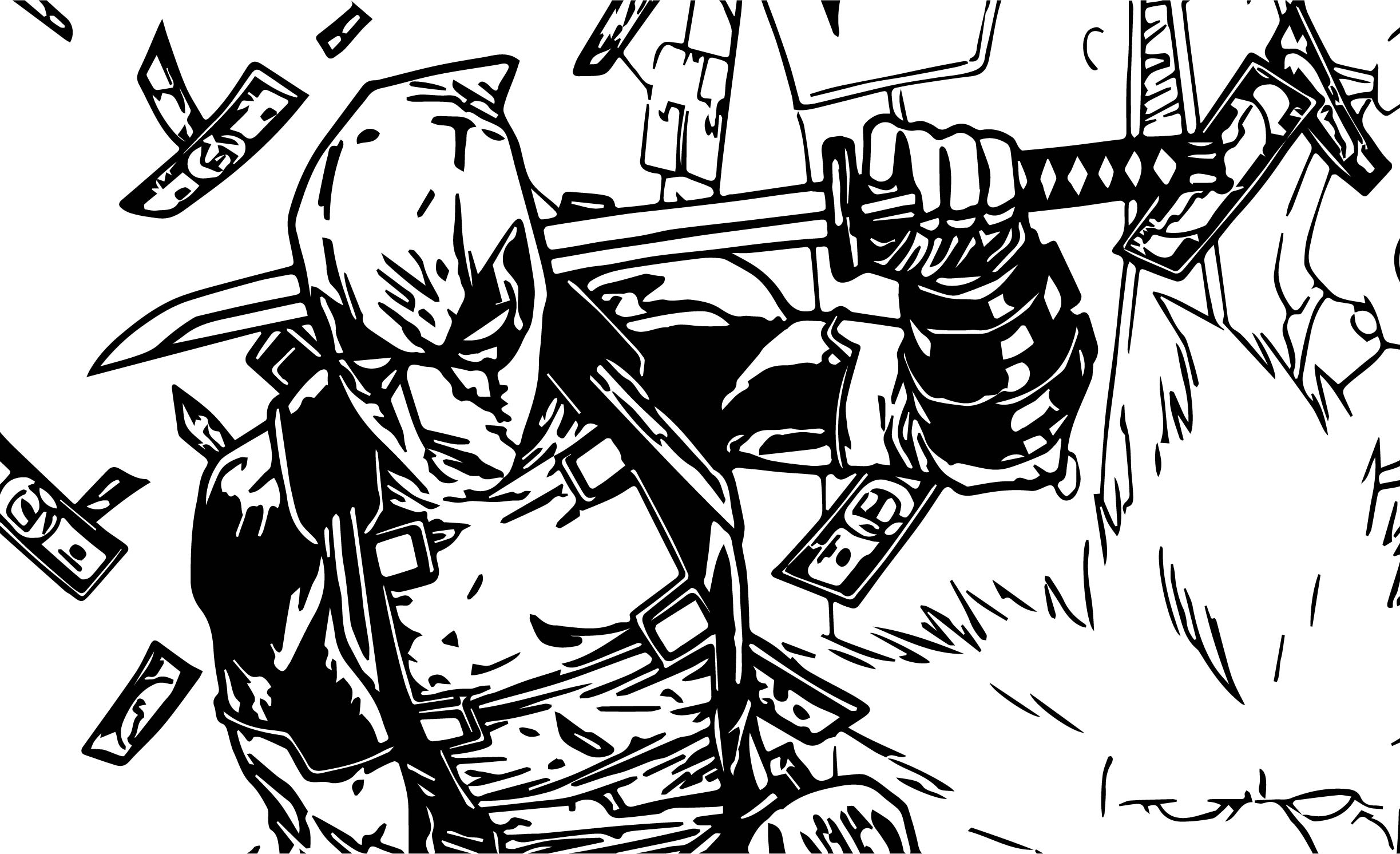 Deadpool Para Colorear Pintar E Imprimir: Comfortable Deadpool 14 Superheroes Paginas Para Colorear