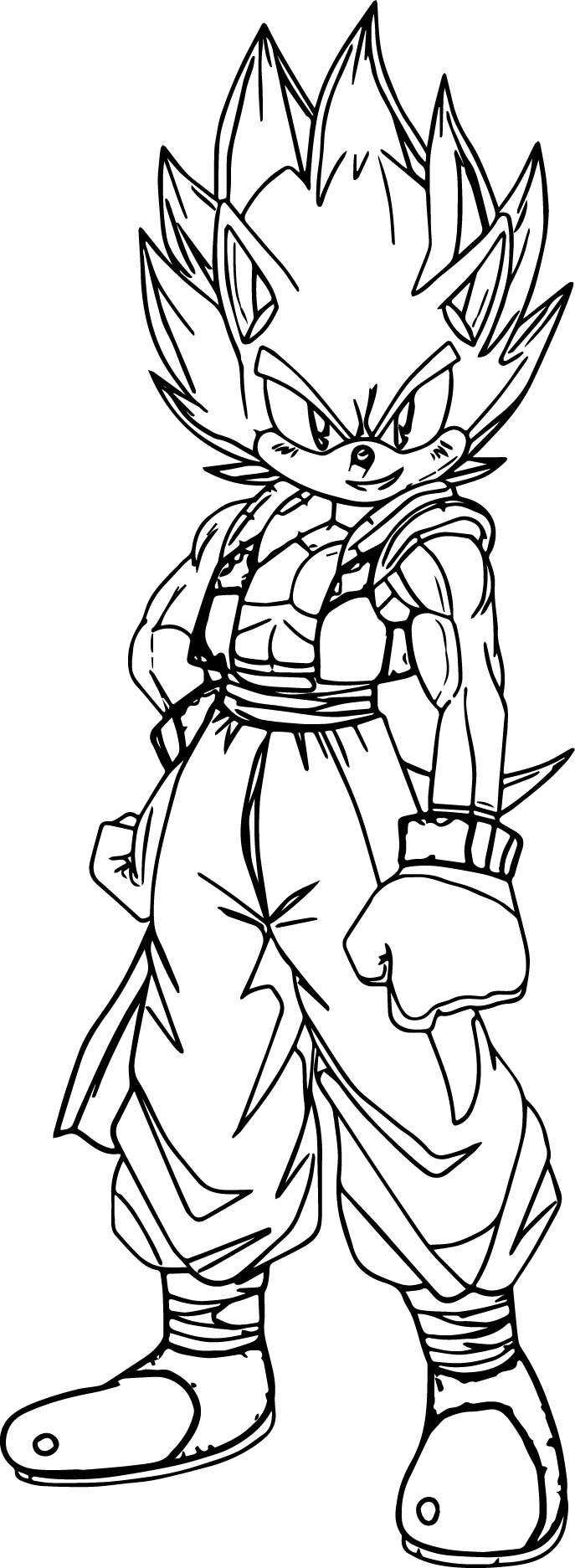 Goku Sonic Coloring Page Wecoloringpage