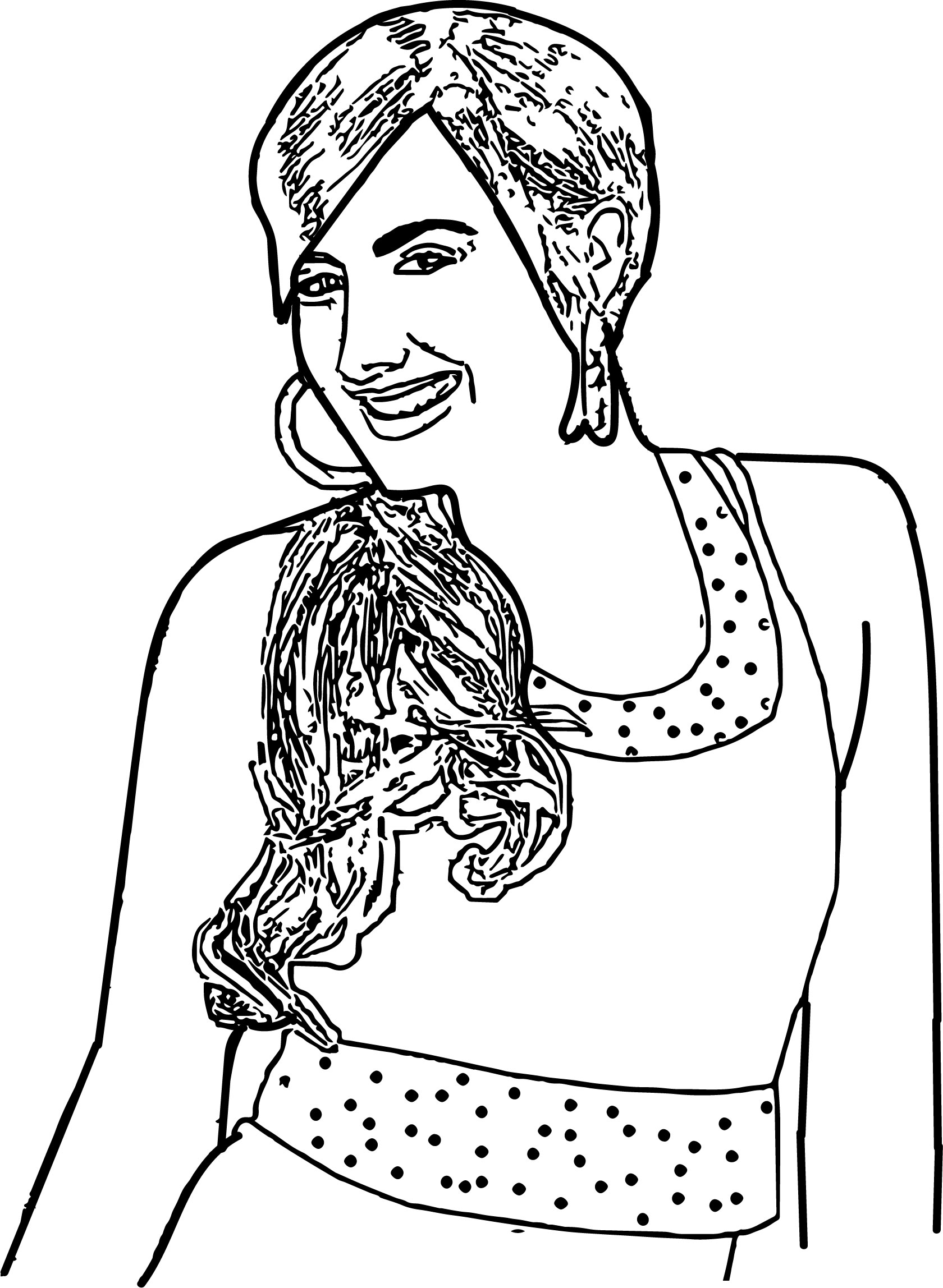 High School Musical Characters Sharpay Evans Coloring