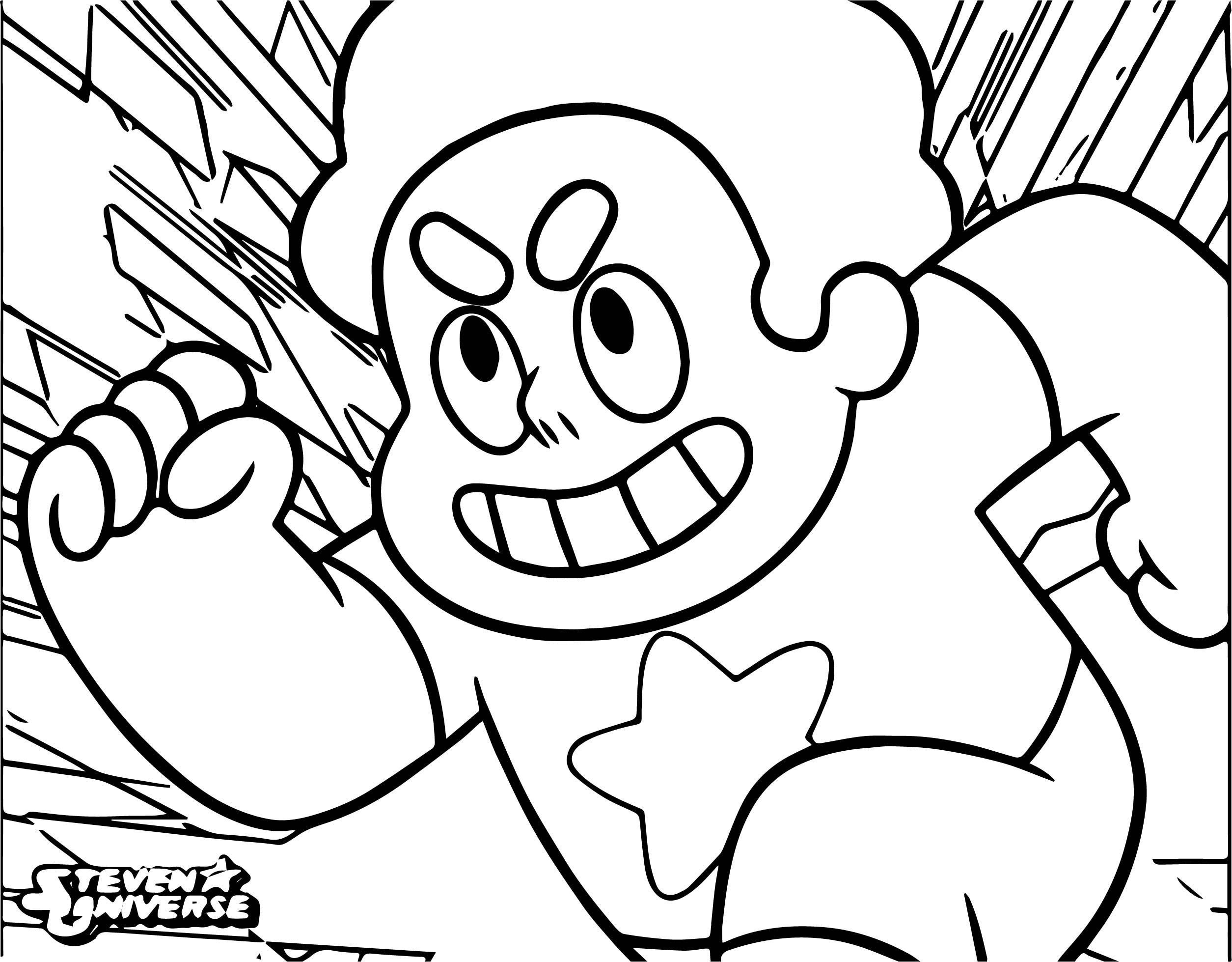 Steven Universe Cartoon Work Coloring Page Wecoloringpage