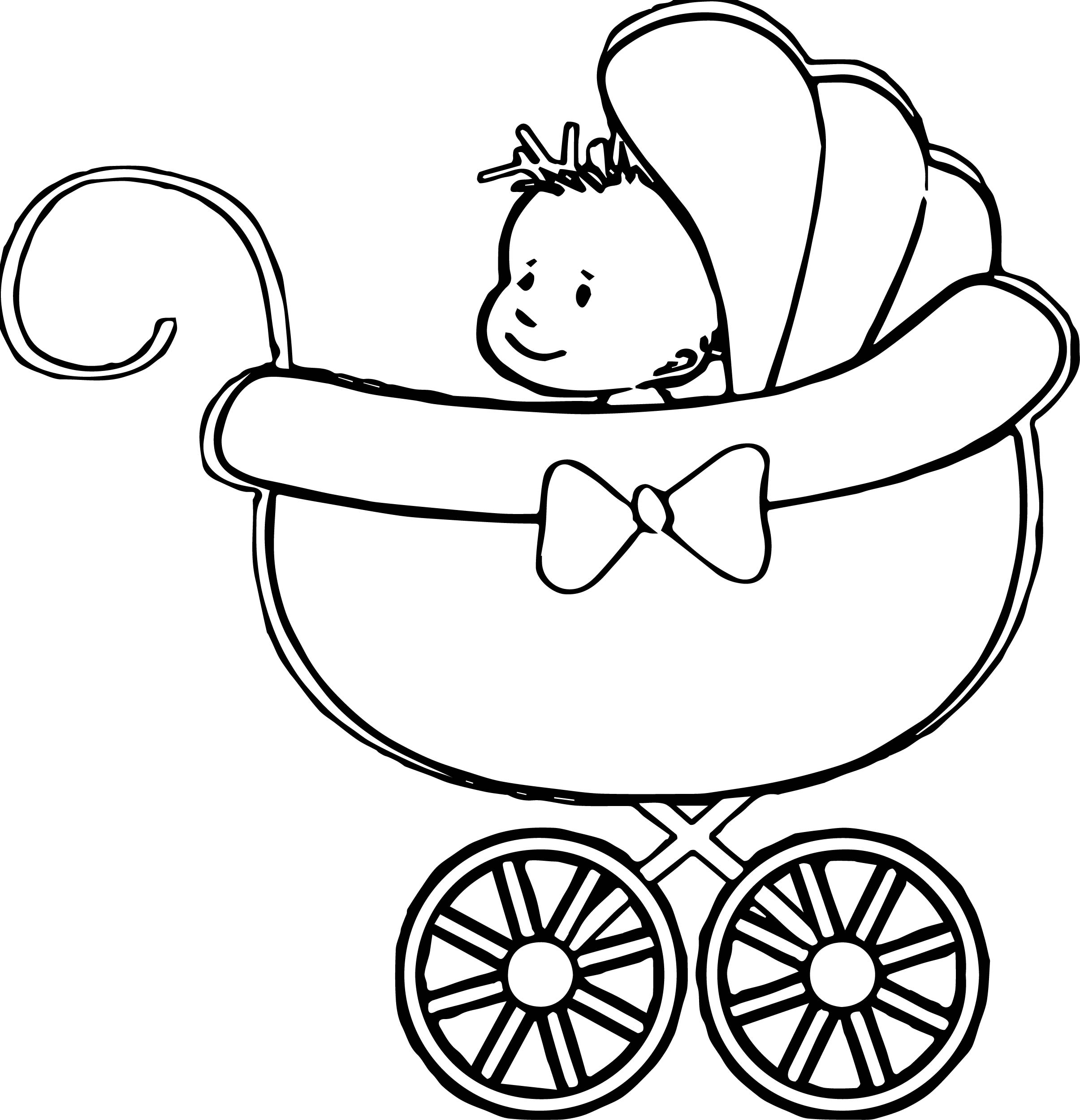 Baby Stroller Pages Coloring Pages