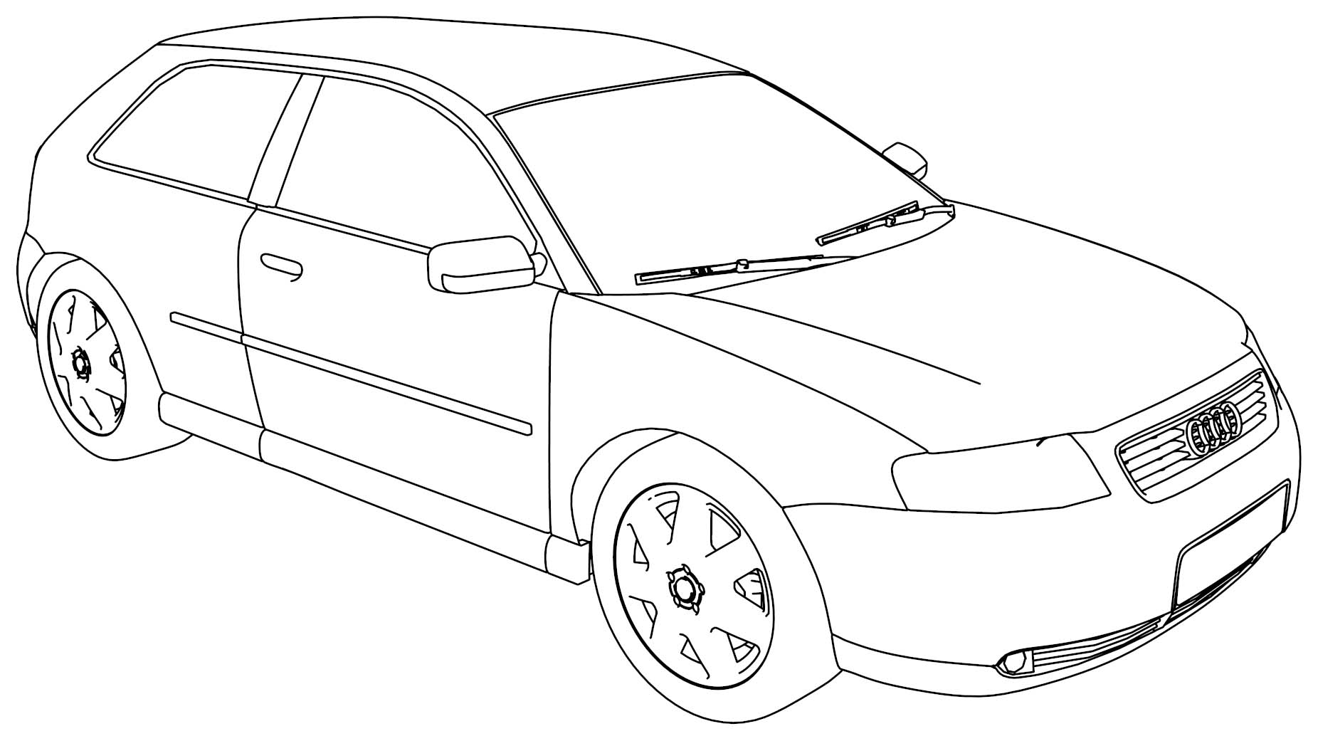Audi S5 Side Coloring Pages