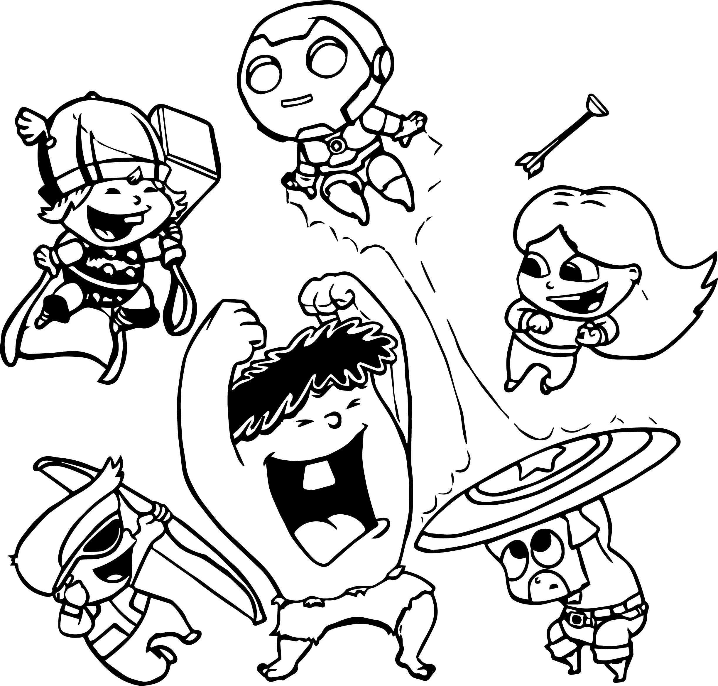 Avengers Kids Free Coloring Page Wecoloringpage