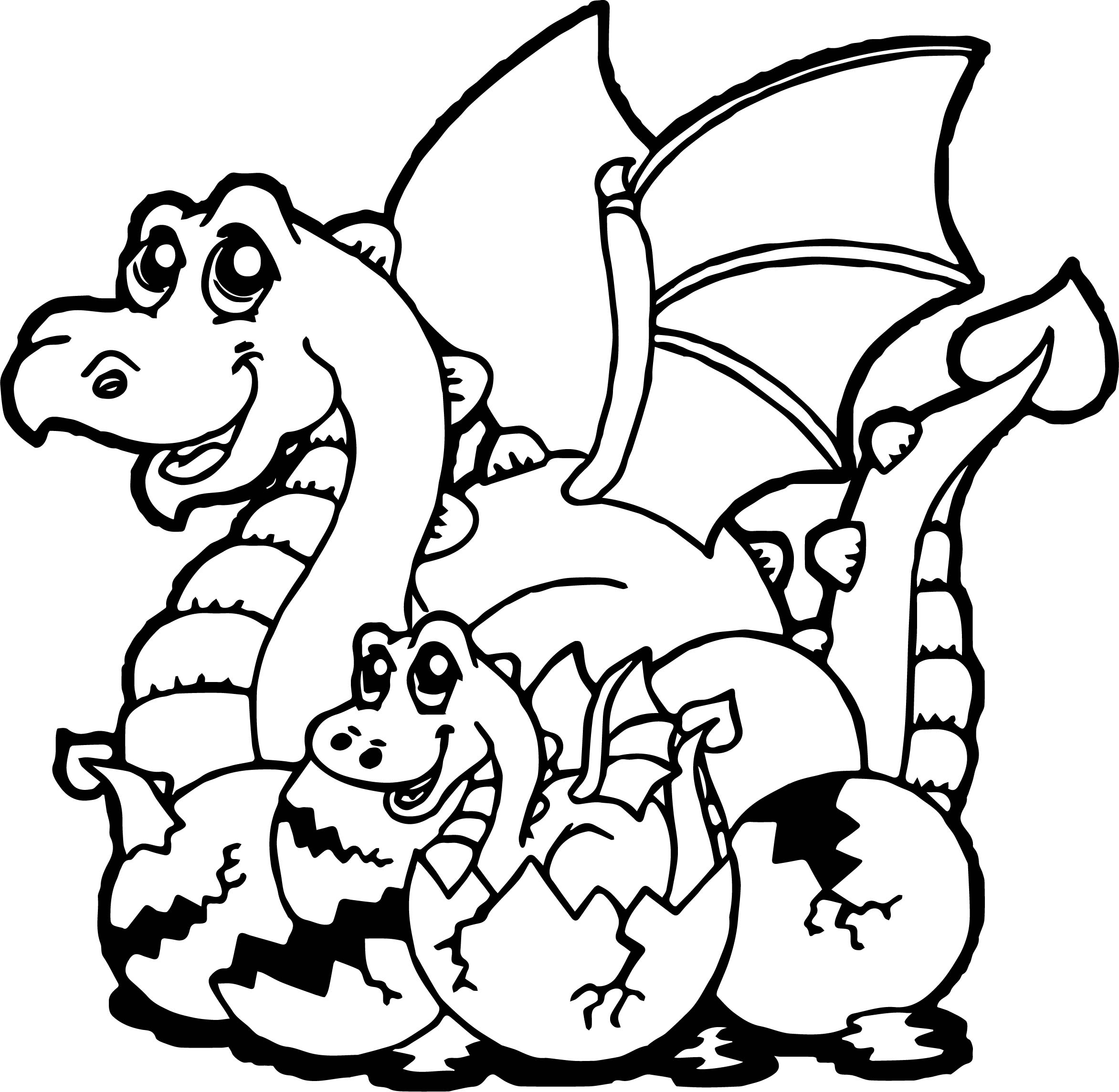Baby Dragon Coloring Pages Pictures To Pin