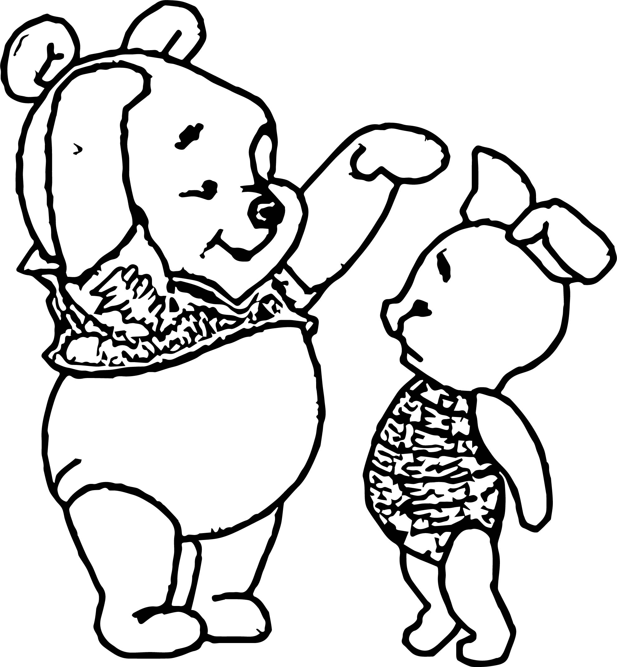 Baby Pooh Short Tall Coloring Page