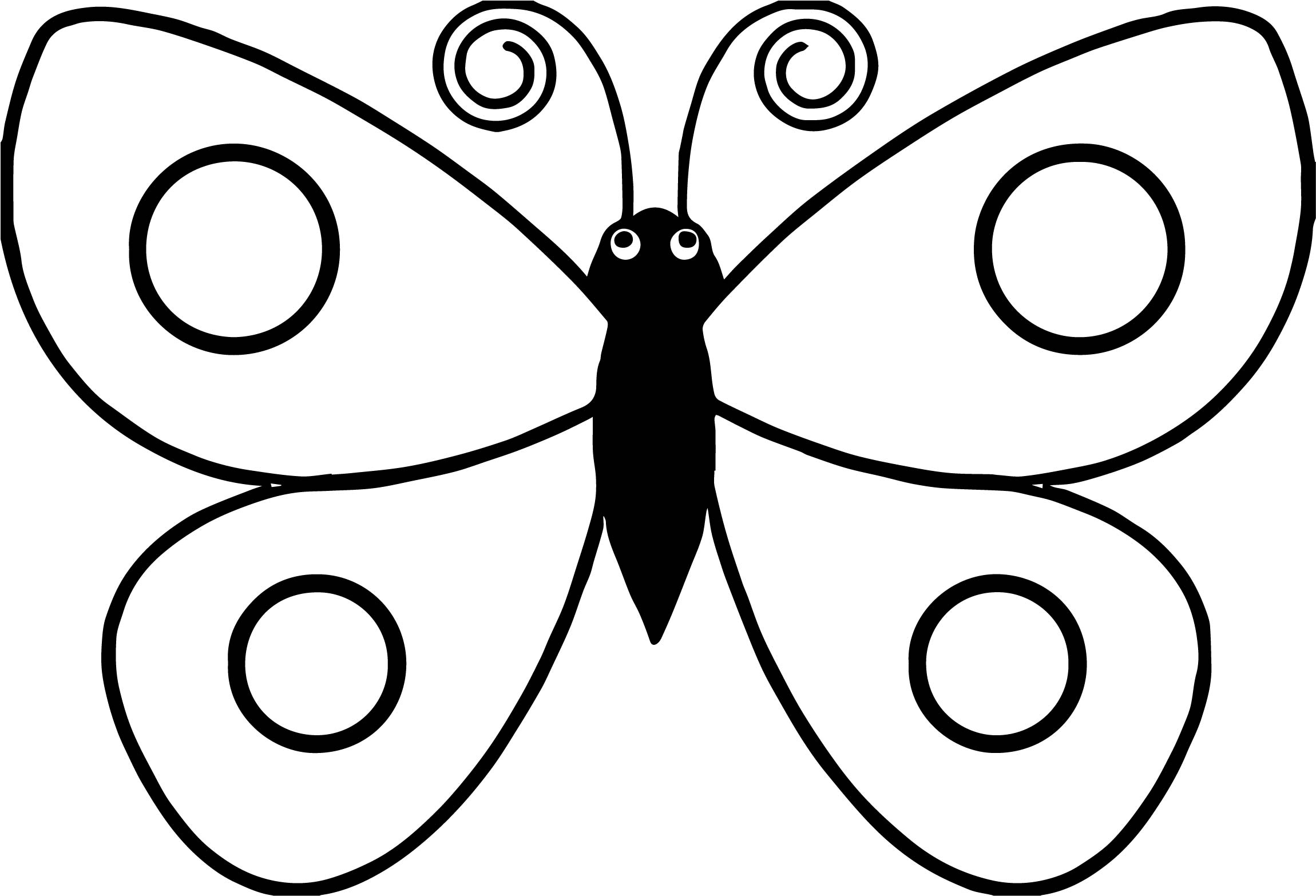 Black Body Butterfly Coloring Page