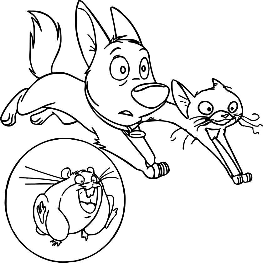 bolt dog friends looking coloring pages  wecoloringpage