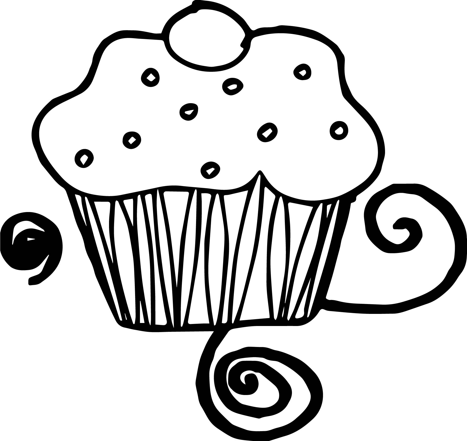 kleurplaten cupcake kleurplaat