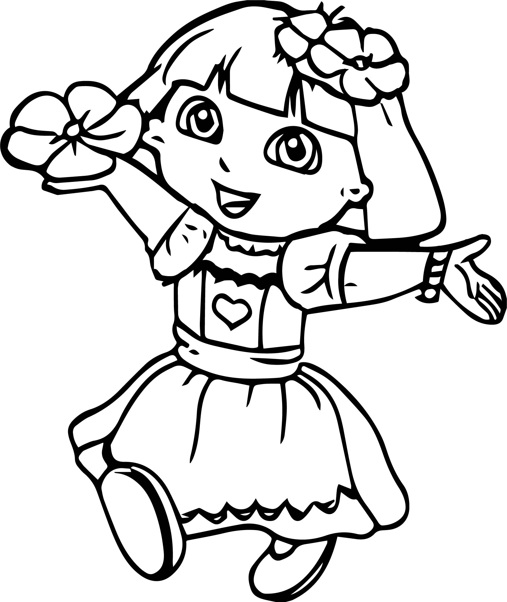 Dora The Explorer My Flower Coloring Page