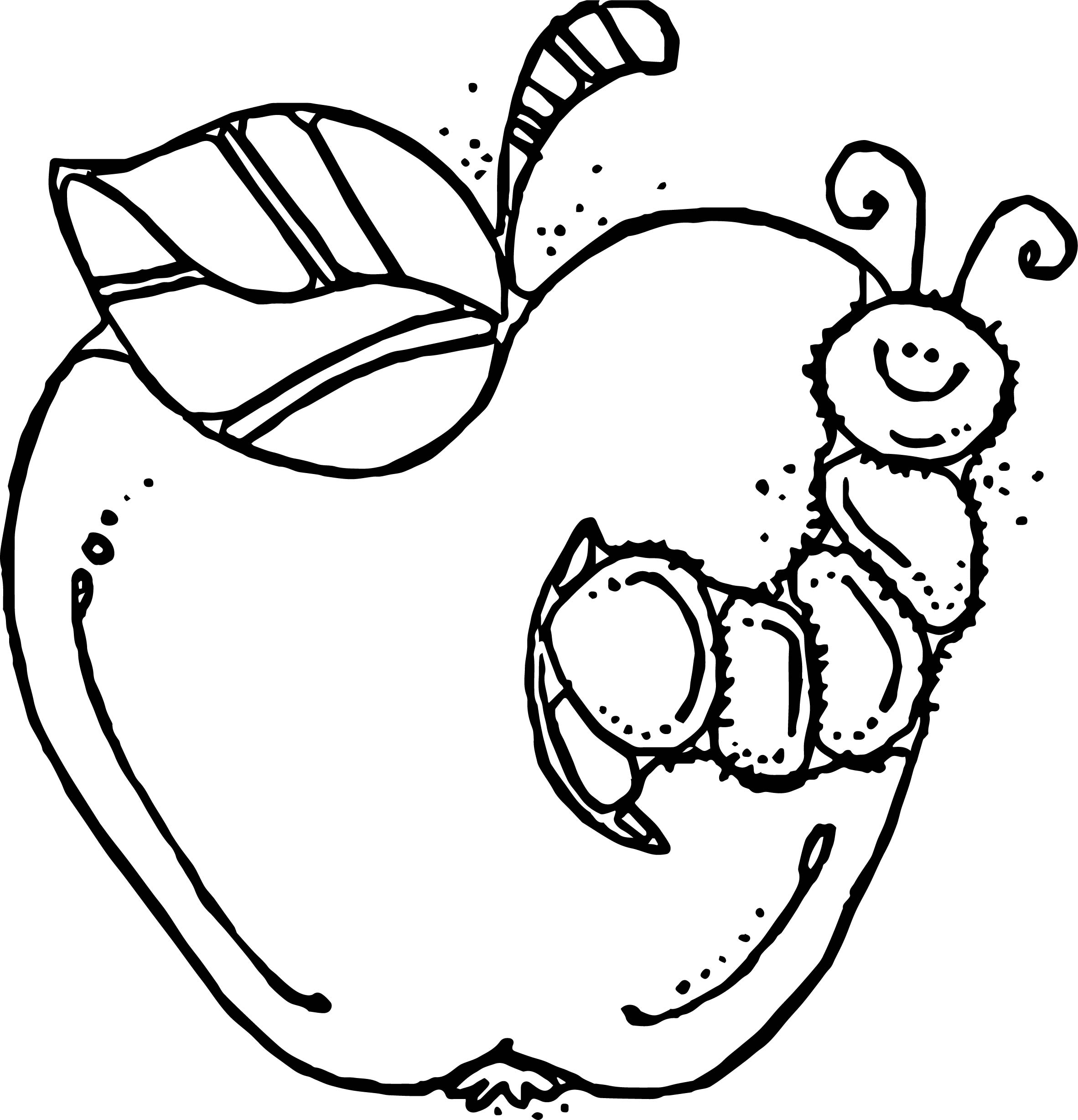 For Teachers Apple Coloring Page