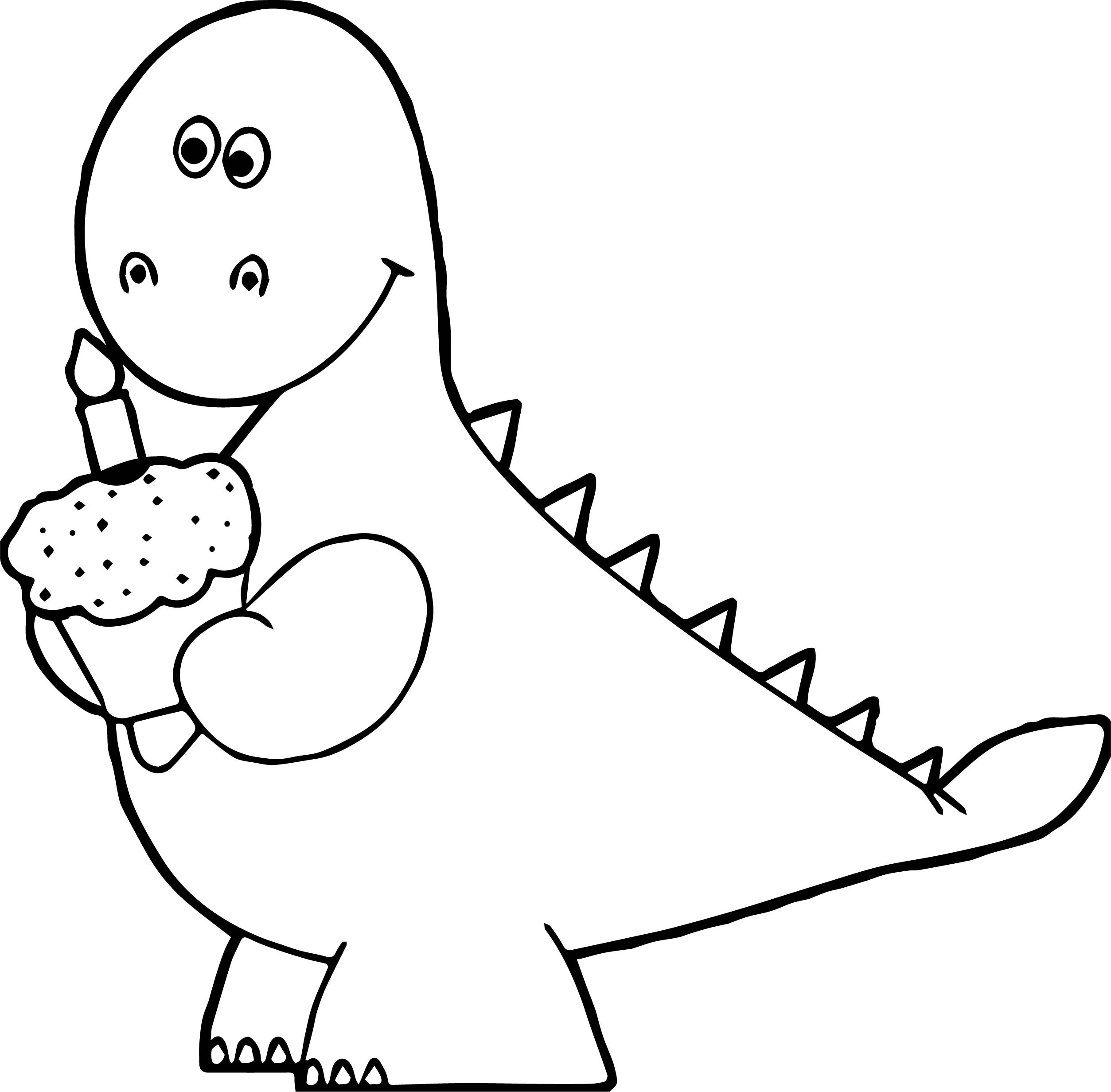 Birthday Cupcakes Colouring Pages Sketch Coloring Page